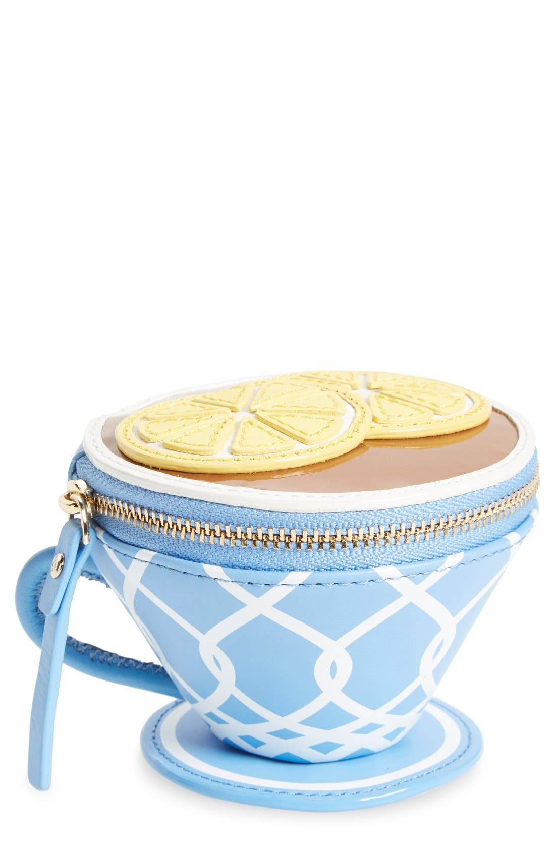Main Image - kate spade new york 'tea cup' leather coin purse