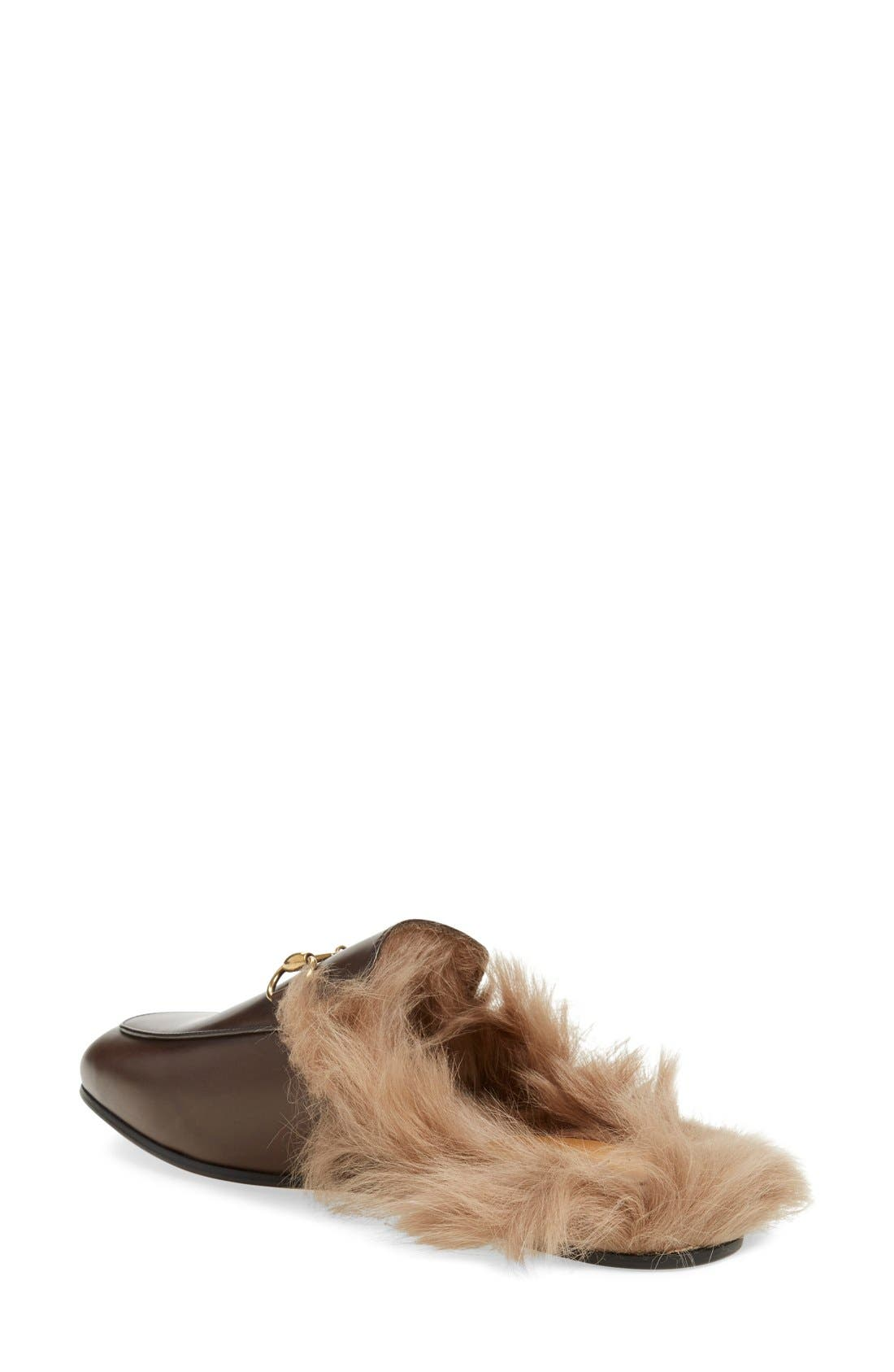 Alternate Image 2  - Gucci 'Princetown' Genuine Shearling Loafer Mule (Women)