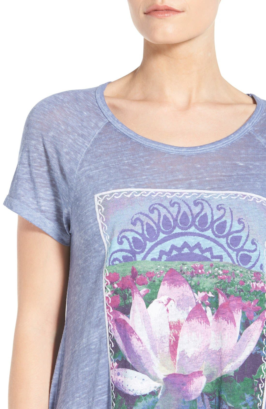 Alternate Image 4  - Lucky Brand 'Lotus Matchbox' Graphic Tee
