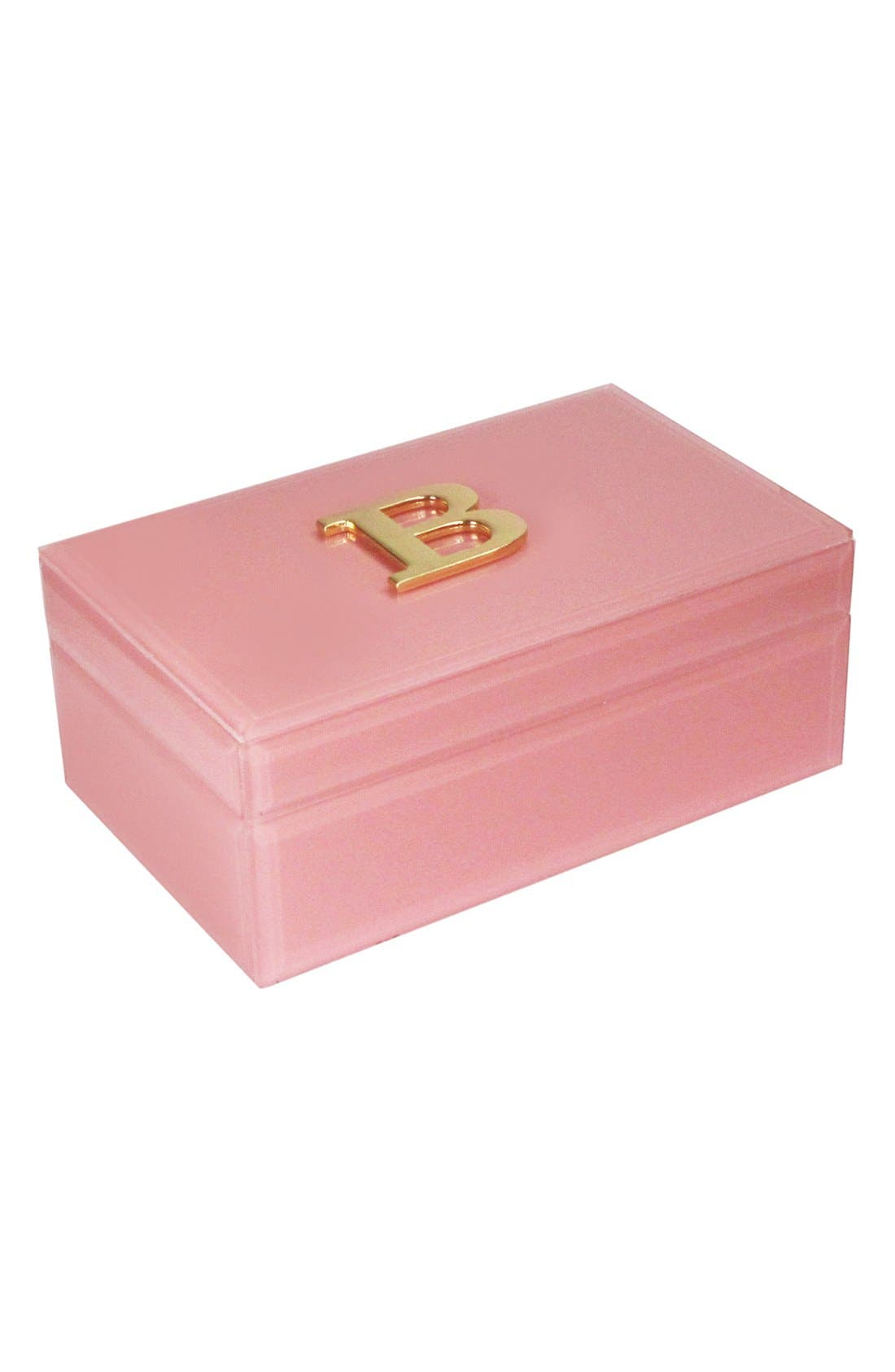 Monogram Jewelry Box,                         Main,                         color, Rose - B