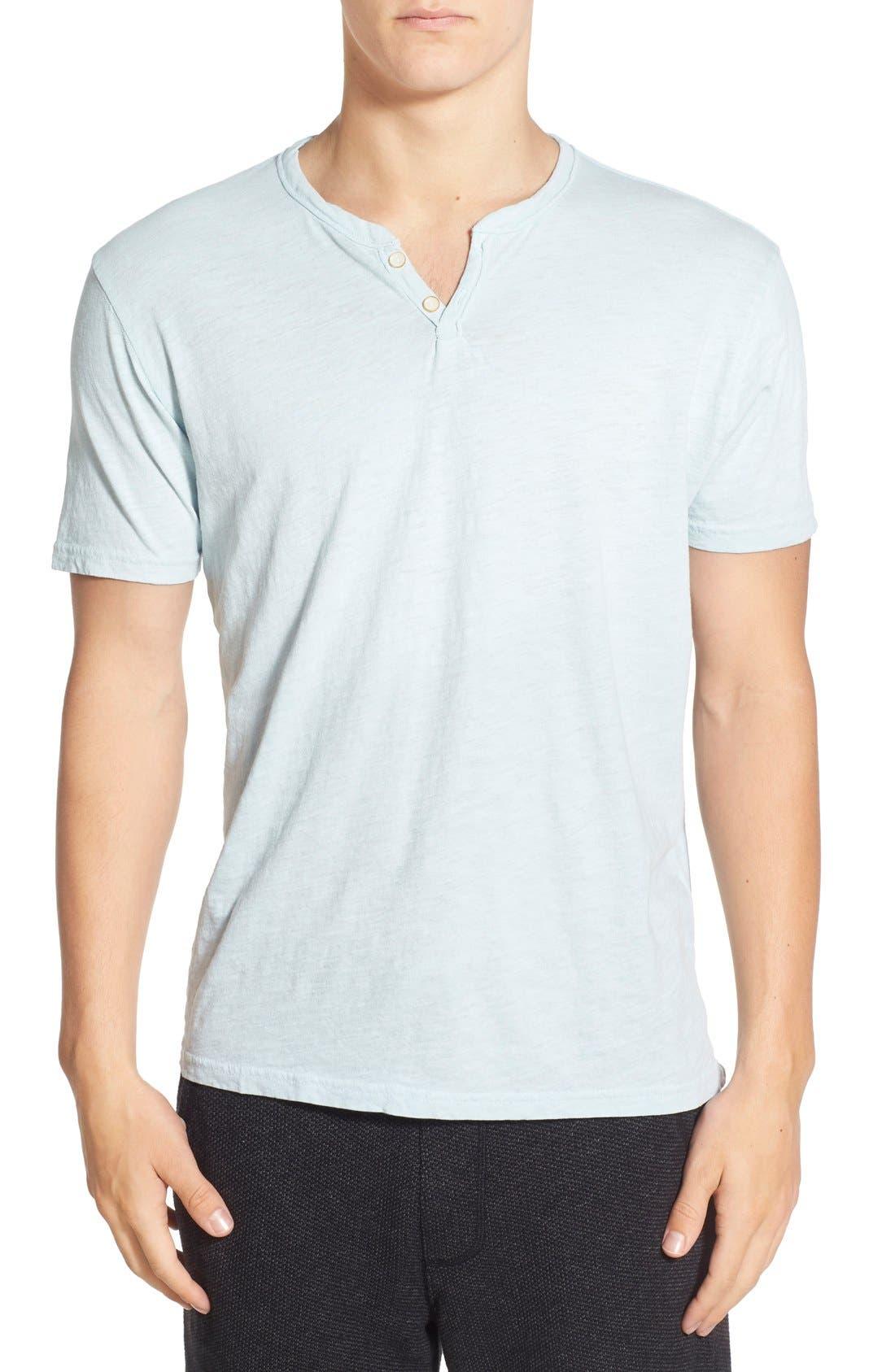 Alternate Image 1 Selected - Lucky Brand Notch Short Sleeve Henley T-Shirt