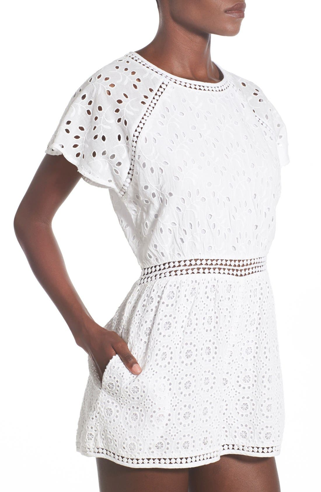 Alternate Image 4  - Tularosa 'Brynn' Embroidered Eyelet Romper