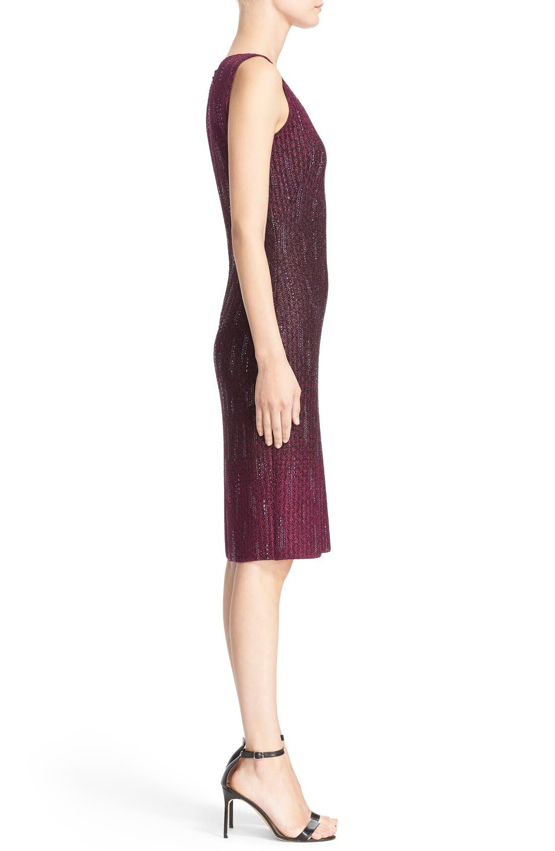 Alternate Image 5  - St. John Collection 'Kira' Crystal Embellished Ombré Knit Sheath Dress