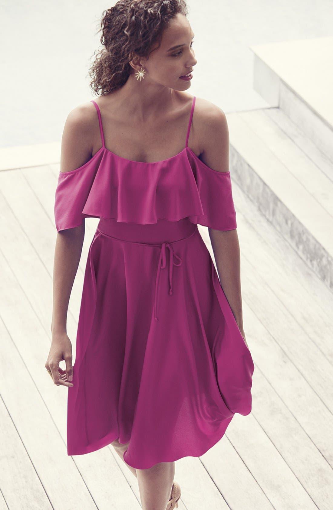 Alternate Image 2  - CeCe 'Jackie' Cold Shoulder Fit & Flare Dress