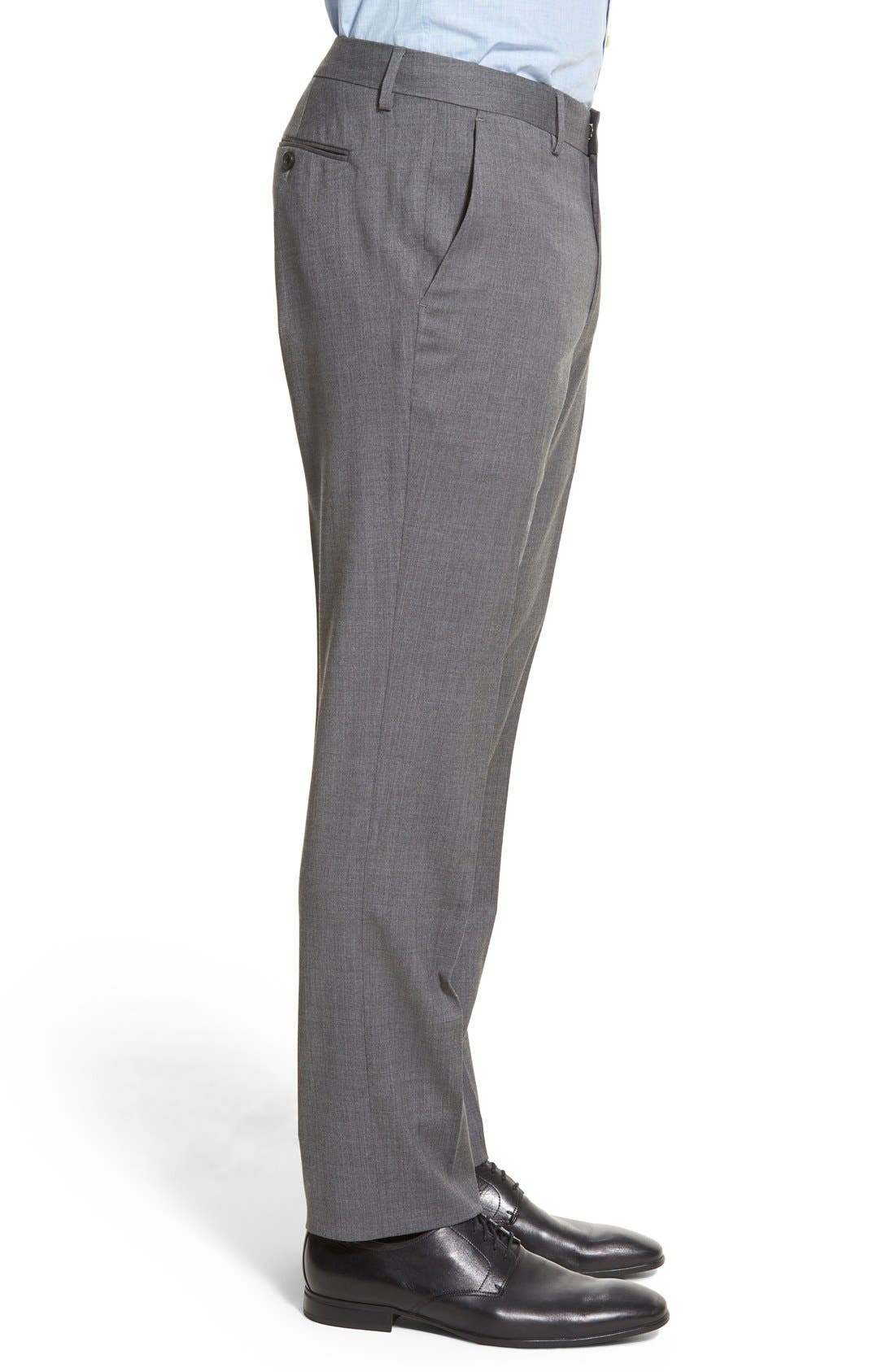 Alternate Image 3  - Bonobos Jetsetter Slim Fit Flat Front Solid Stretch Wool Trousers