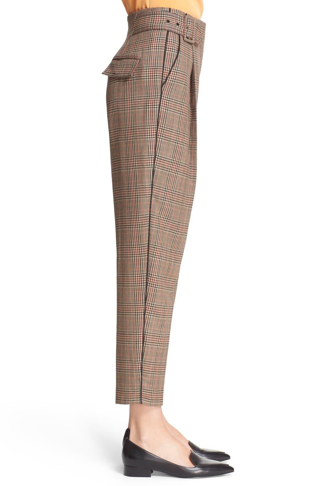 Alternate Image 4  - 3.1 Phillip Lim Pleated Glen Plaid Crop Wool Pants