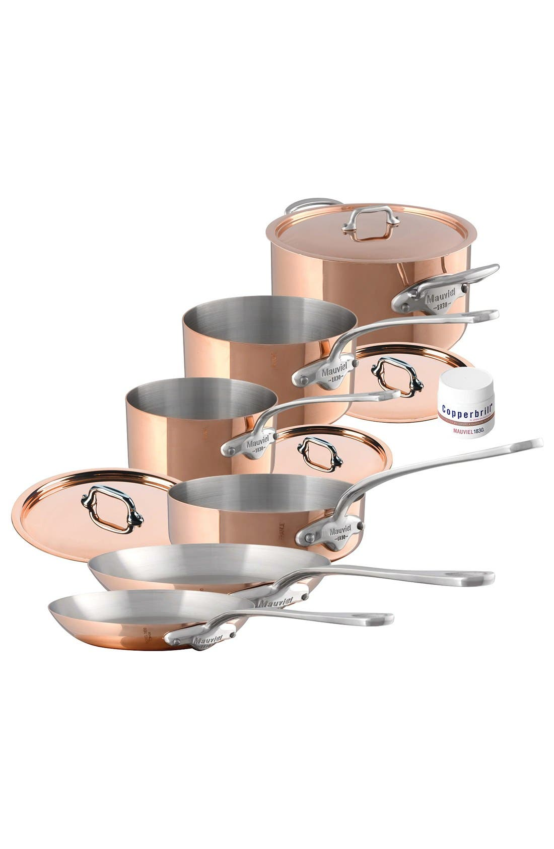 Mauviel M'héritage - M'150s 10-Piece Copper & Stainless Steel Cookware Set