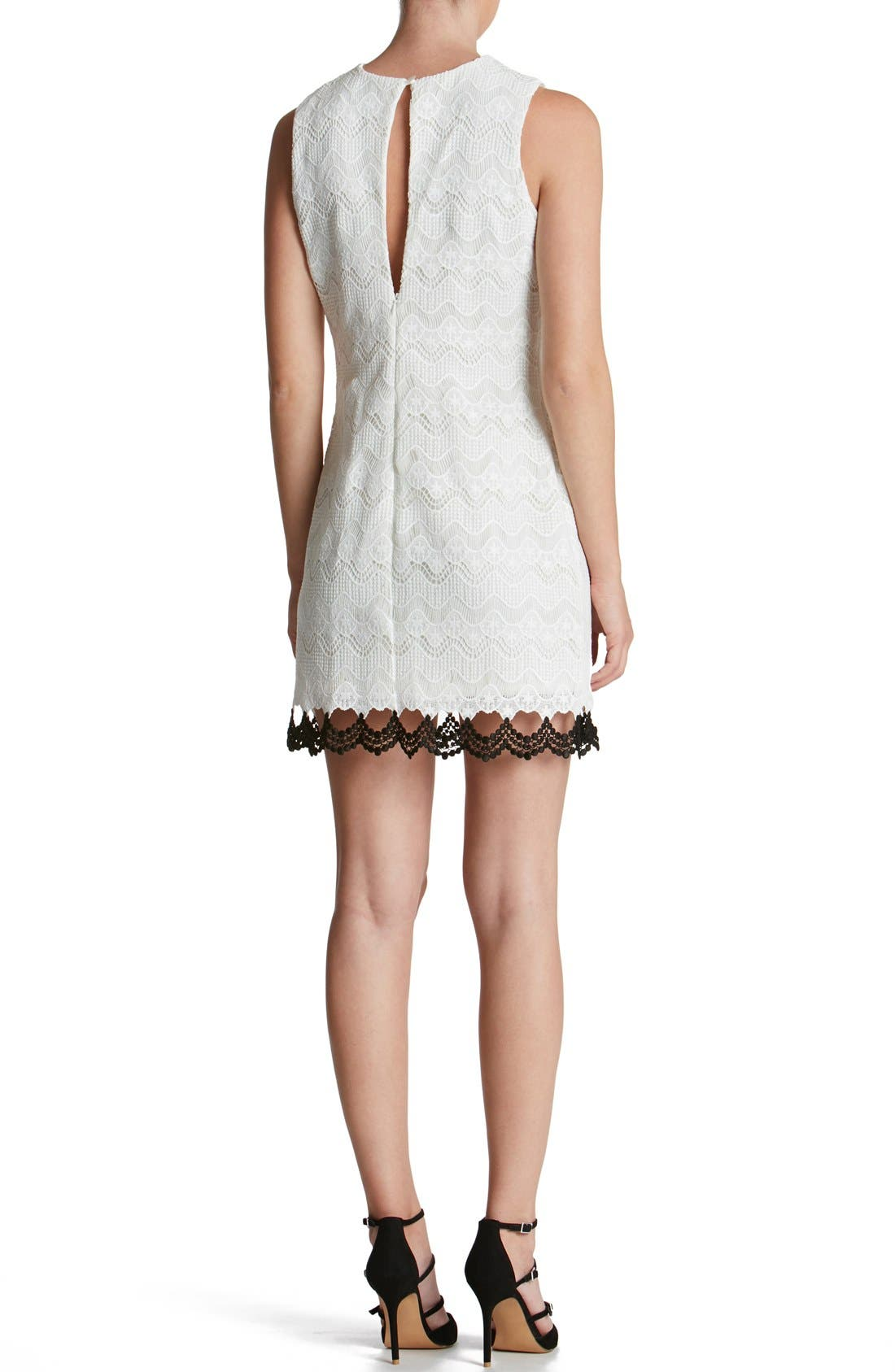 Alternate Image 2  - Dress the Population 'Mara' Crochet Sheath Dress