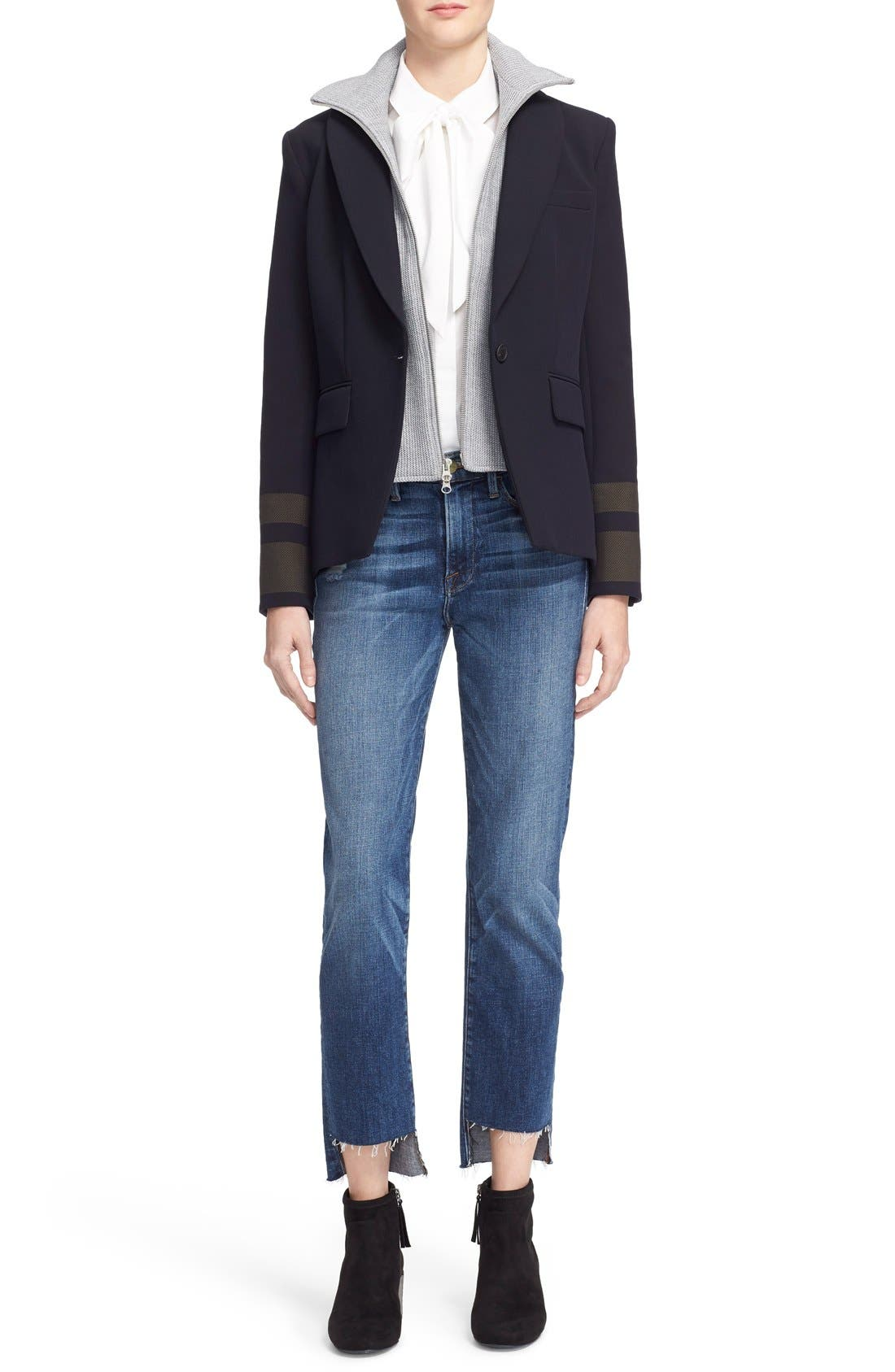 Alternate Image 2  - FRAME 'Le High Straight' High Rise Staggered Hem Jeans (Carroll) (Nordstrom Exclusive)