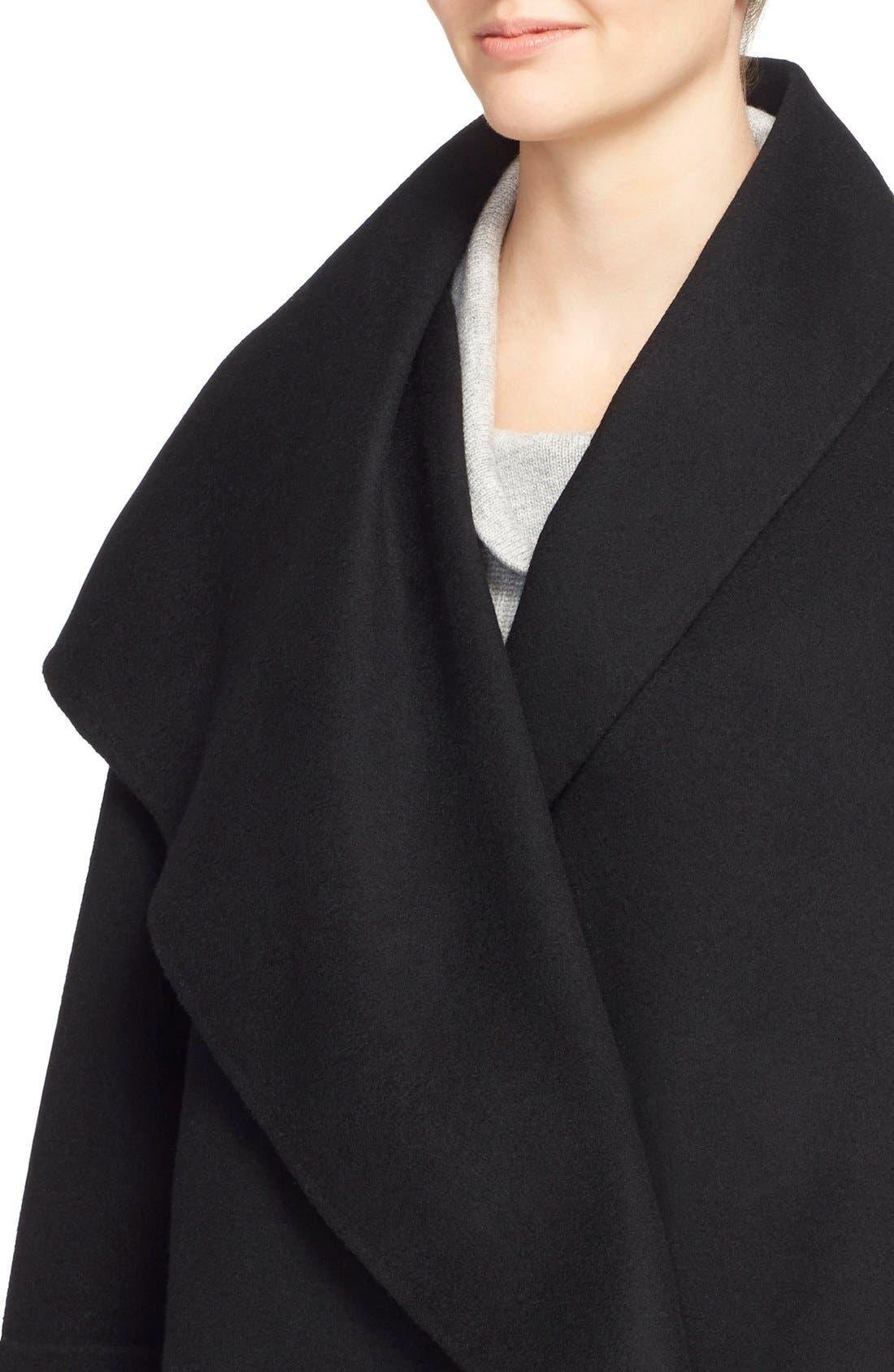 Alternate Image 4  - Vince Drape Neck Wool Blend Coat