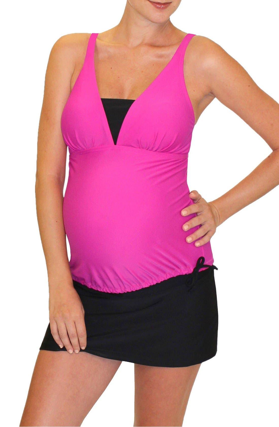 Main Image - Mermaid Maternity Tankini Top