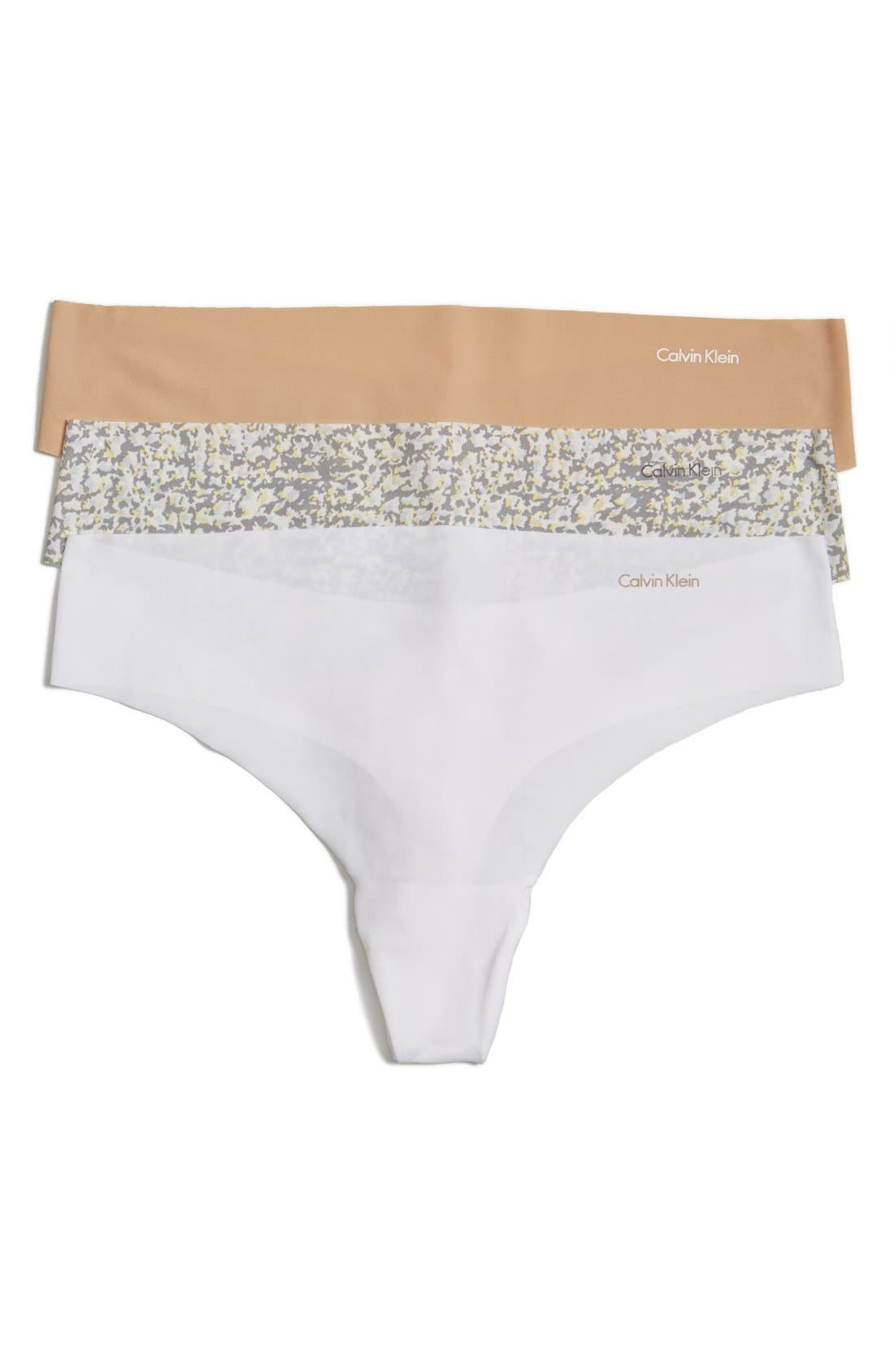 'Invisibles' Thong,                         Main,                         color, Bare/ Kinetic/ White