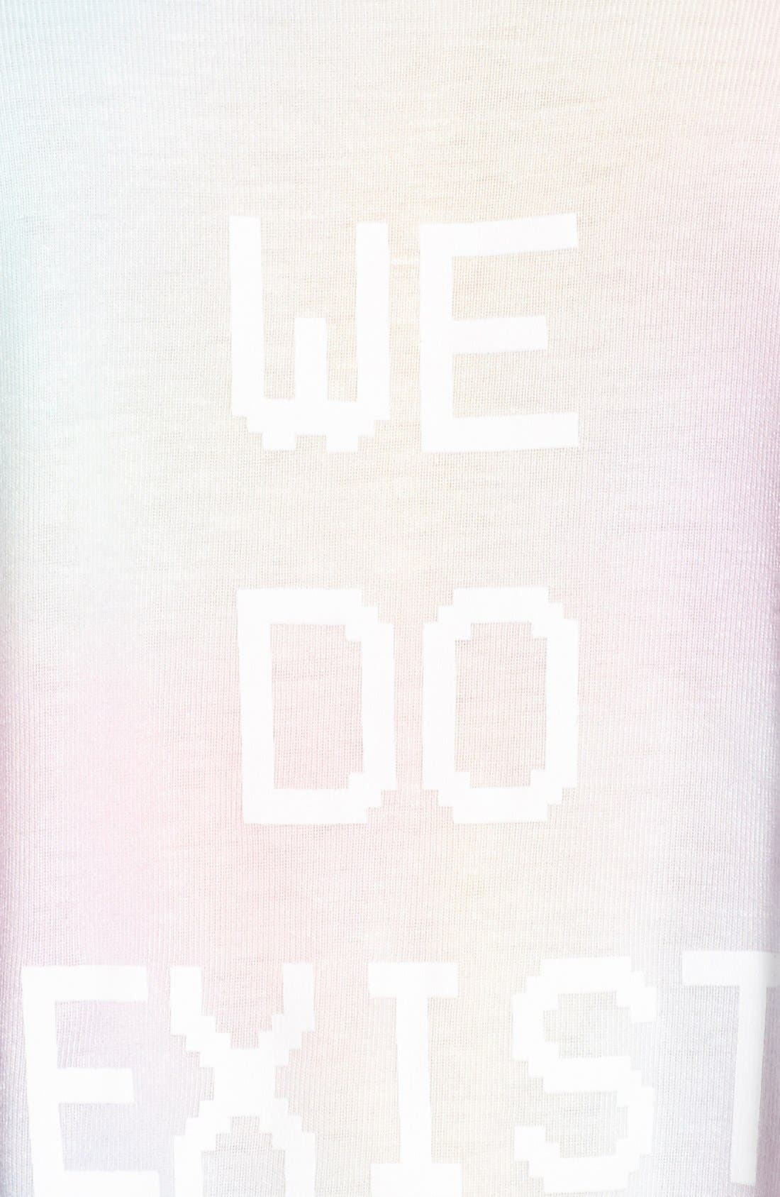 Alternate Image 5  - Wildfox 'We Do Exist' Crop Halter Top