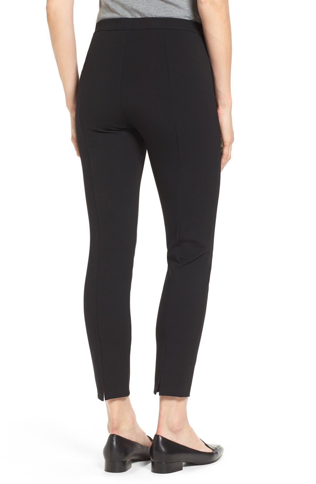 Alternate Image 3  - Halogen® Side Zip Ponte Ankle Pants (Regular & Petite)
