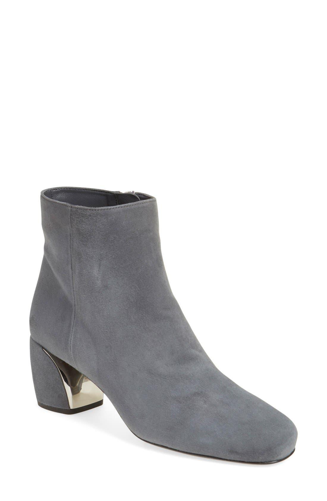 Block Heel Boot,                             Main thumbnail 1, color,                             Grey Suede