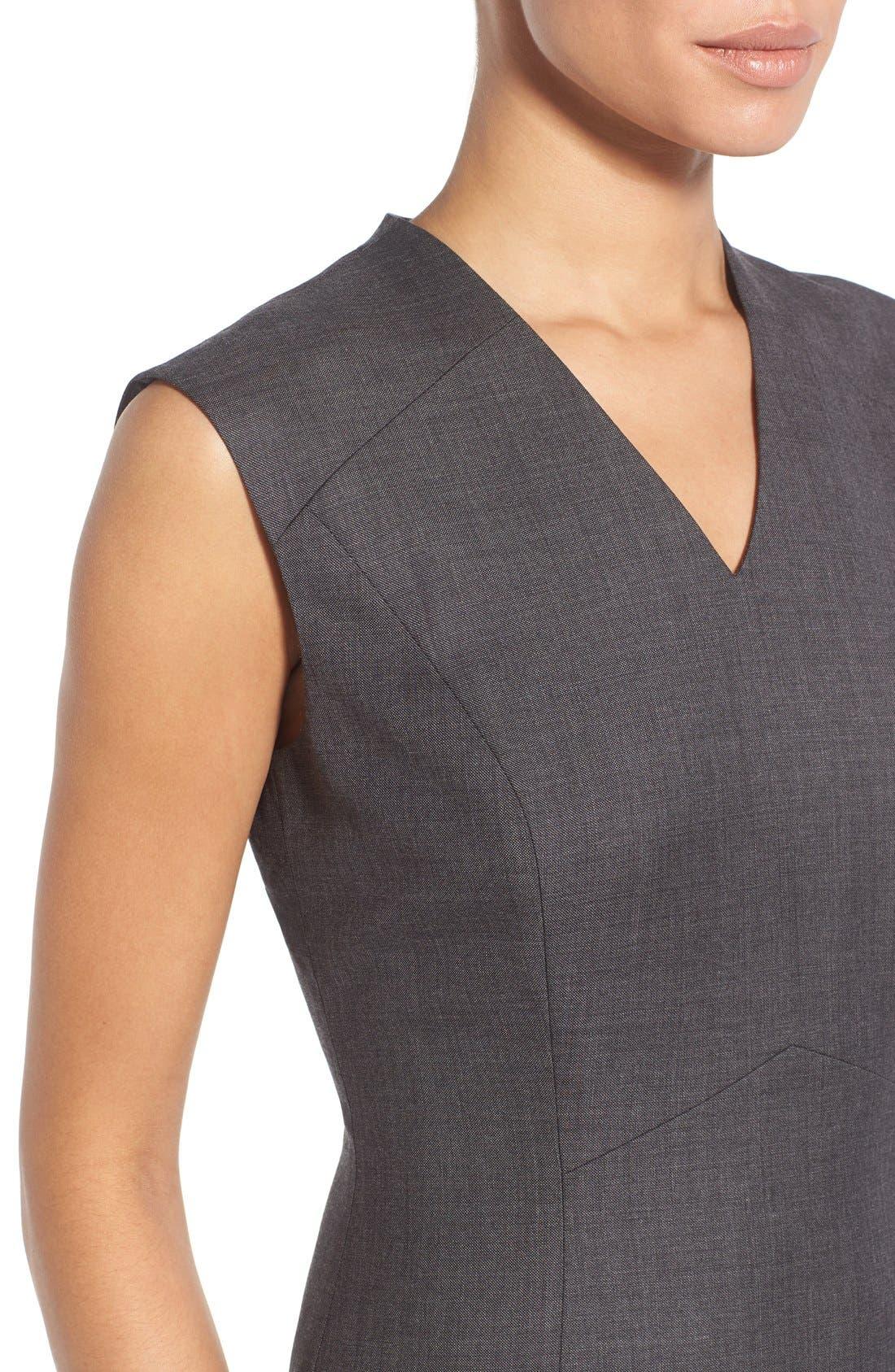 Alternate Image 5  - Classiques Entier® V-Neck Superfine Wool Sheath Dress