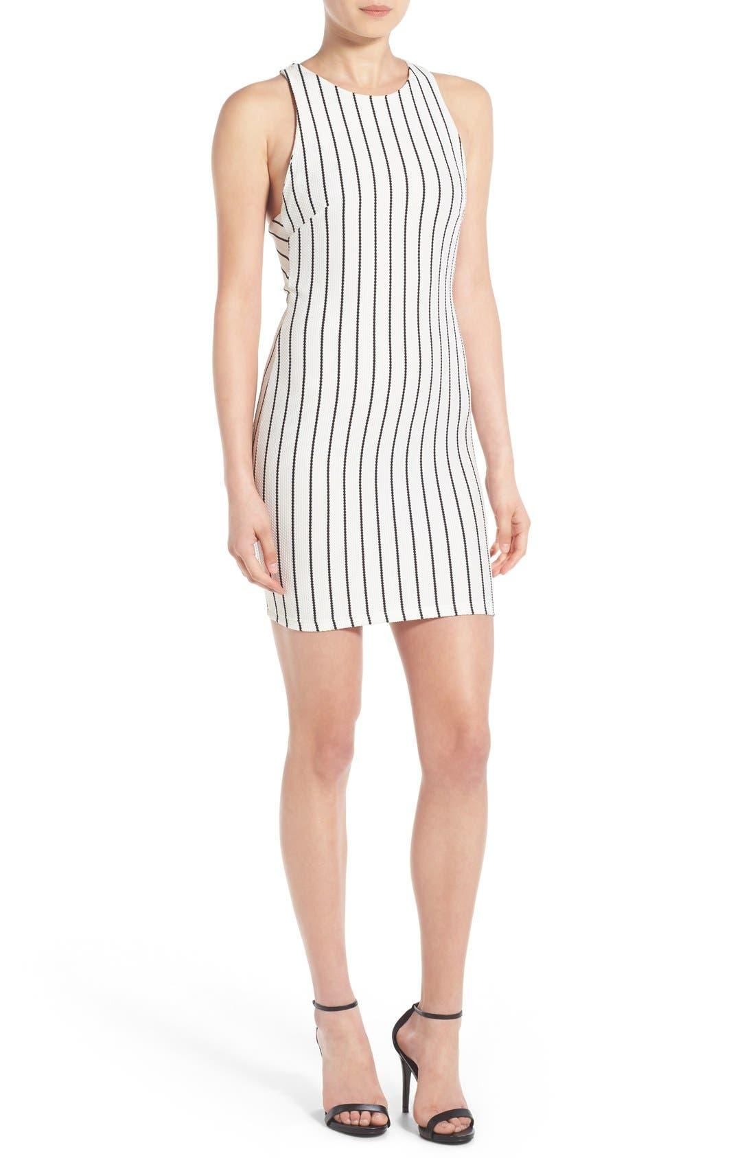 Alternate Image 1 Selected - Lush Clothing Stripe Body-Con Dress
