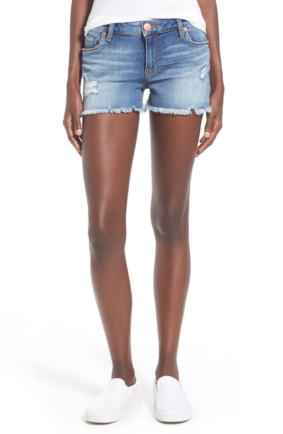 Distressed Cutoff Denim Shorts,                         Main,                         color, West Sacramento
