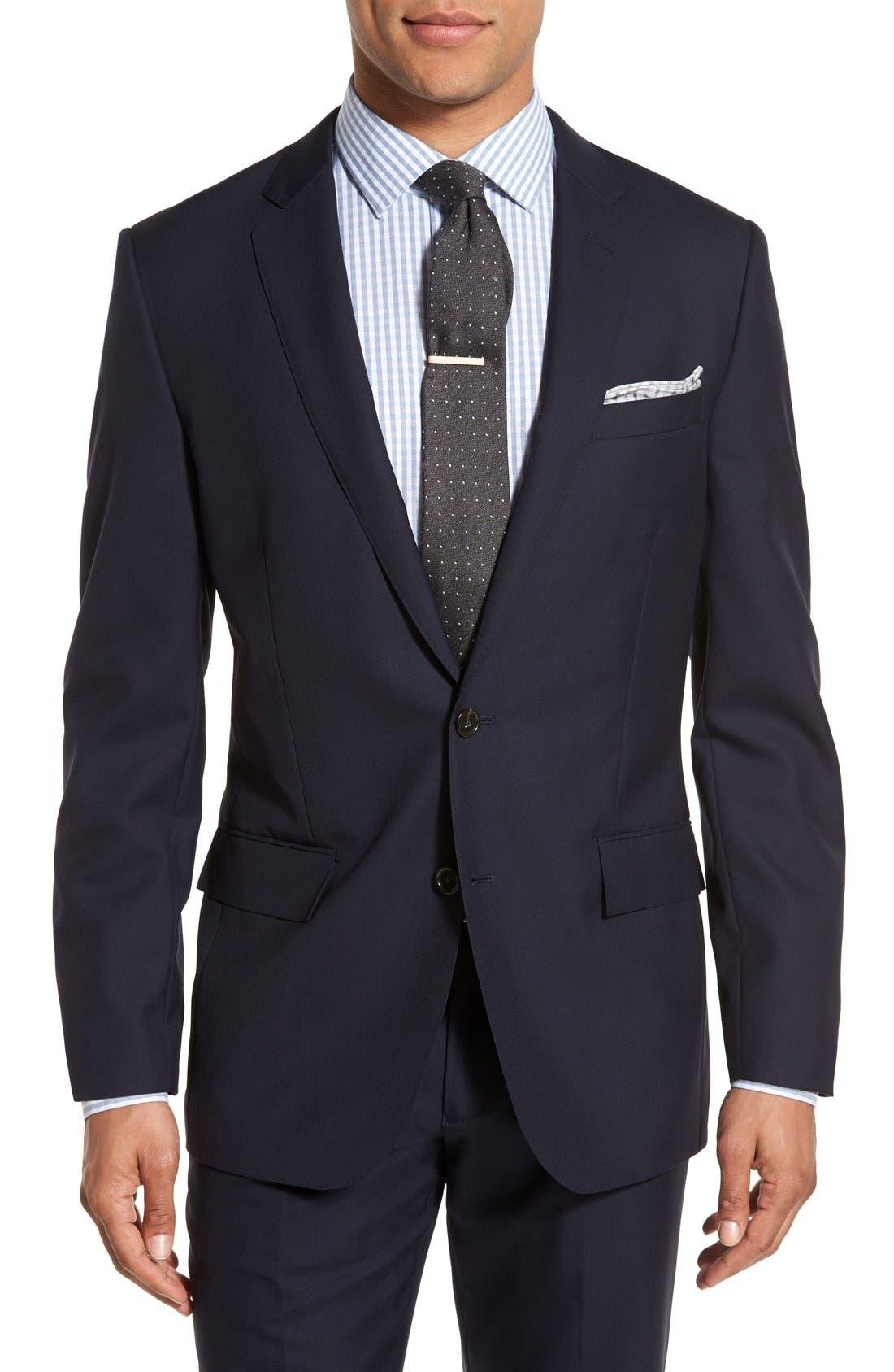 Ludlow Trim Fit Solid Wool Sport Coat,                         Main,                         color, Deep Navy
