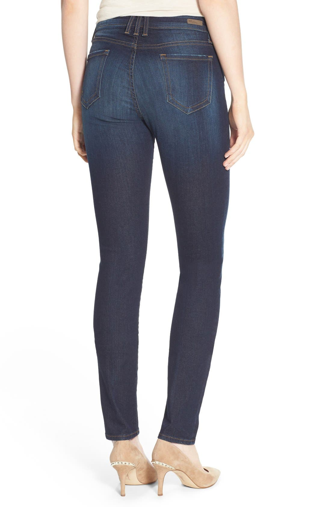 'Diana' Stretch Skinny Jeans,                             Alternate thumbnail 3, color,                             Blinding