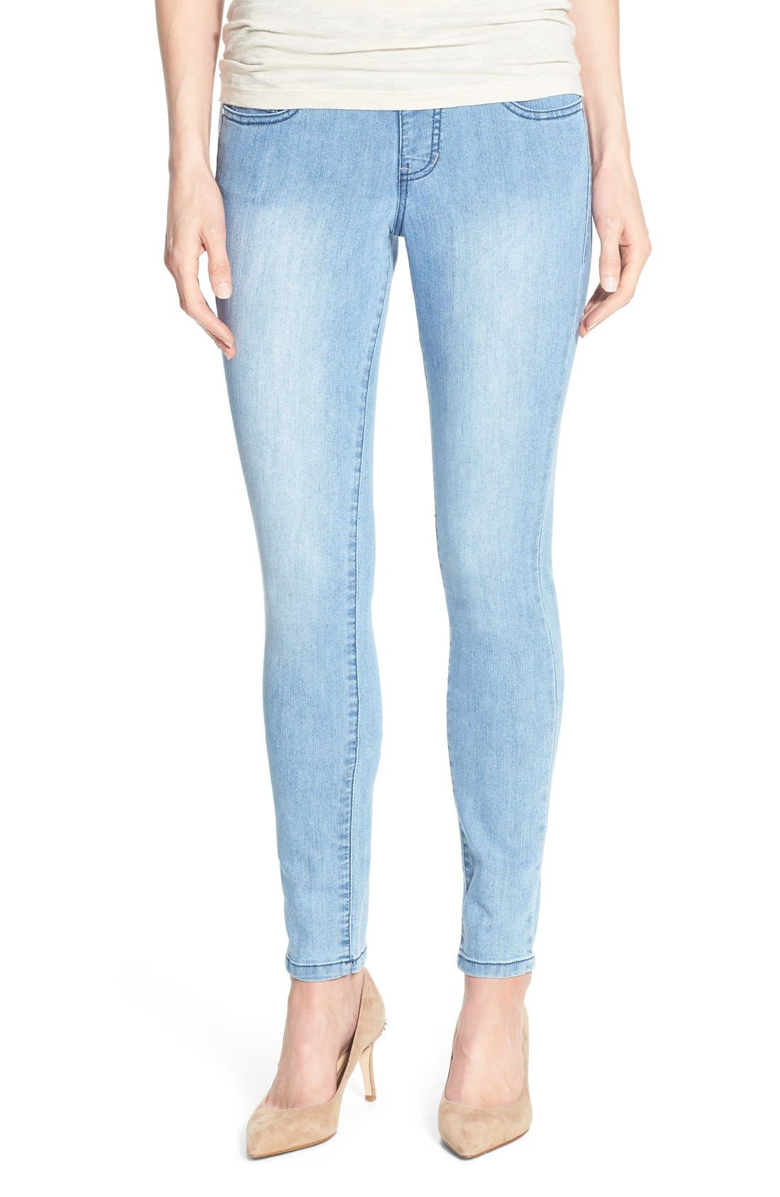 Alternate Image 1 Selected - Jag Jeans 'Nora' Pull-On Stretch Skinny Jeans (Southern Sky)