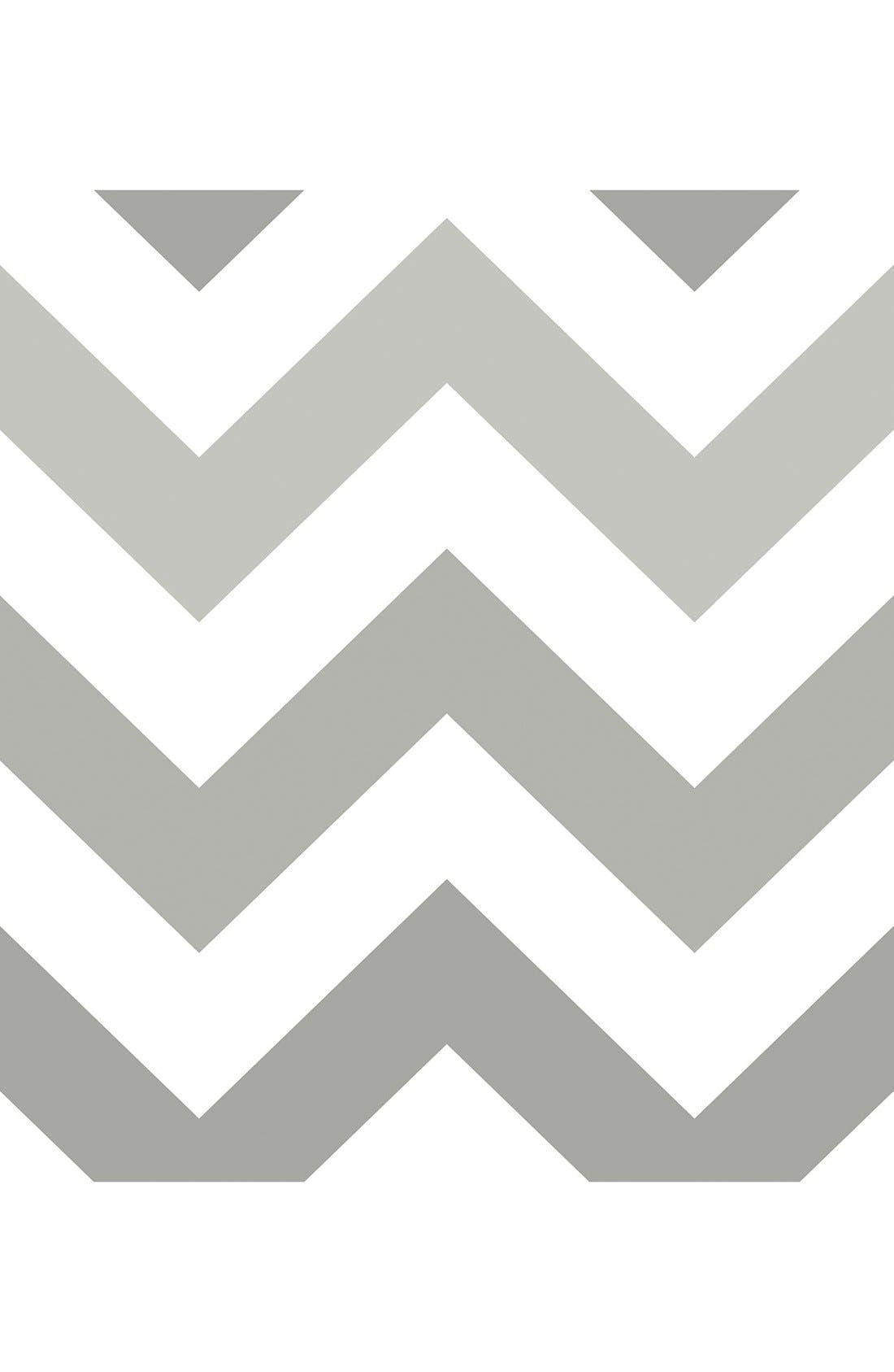 'Zig Zag'  Peel & Stick Vinyl Wallpaper,                             Main thumbnail 1, color,                             Grey - Zig Zag