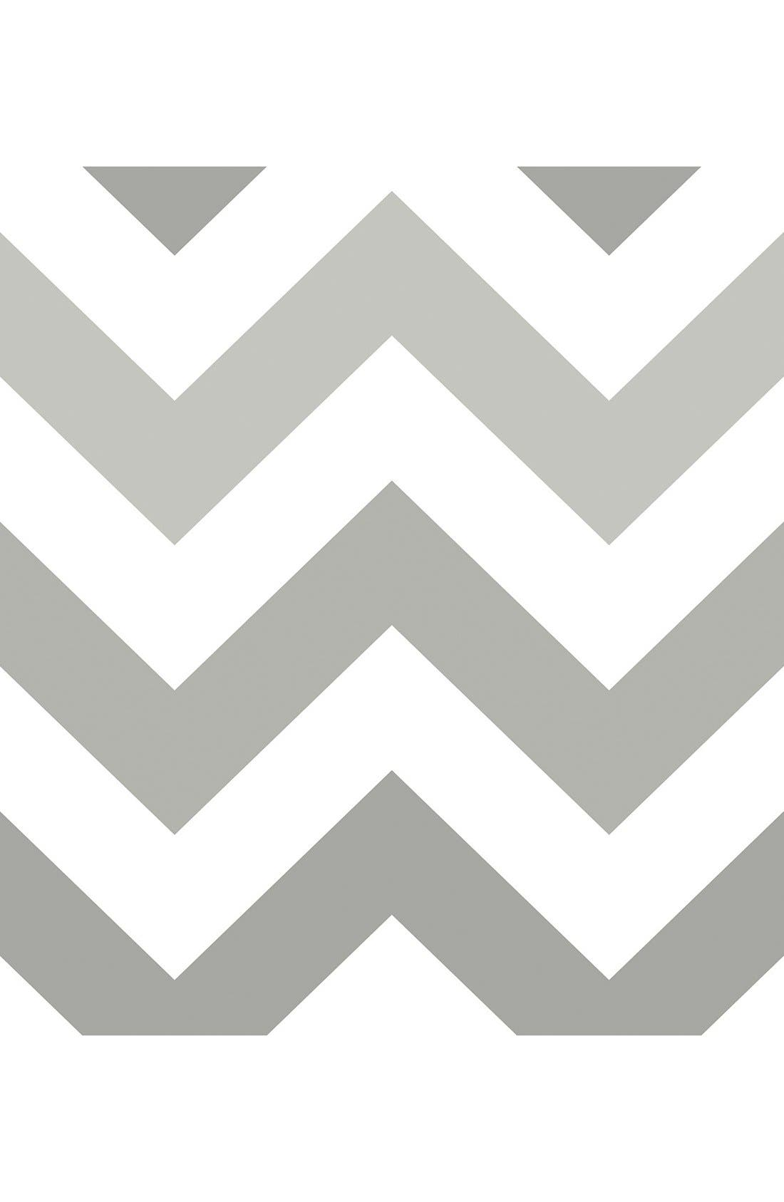 'Zig Zag'  Peel & Stick Vinyl Wallpaper,                         Main,                         color, Grey - Zig Zag