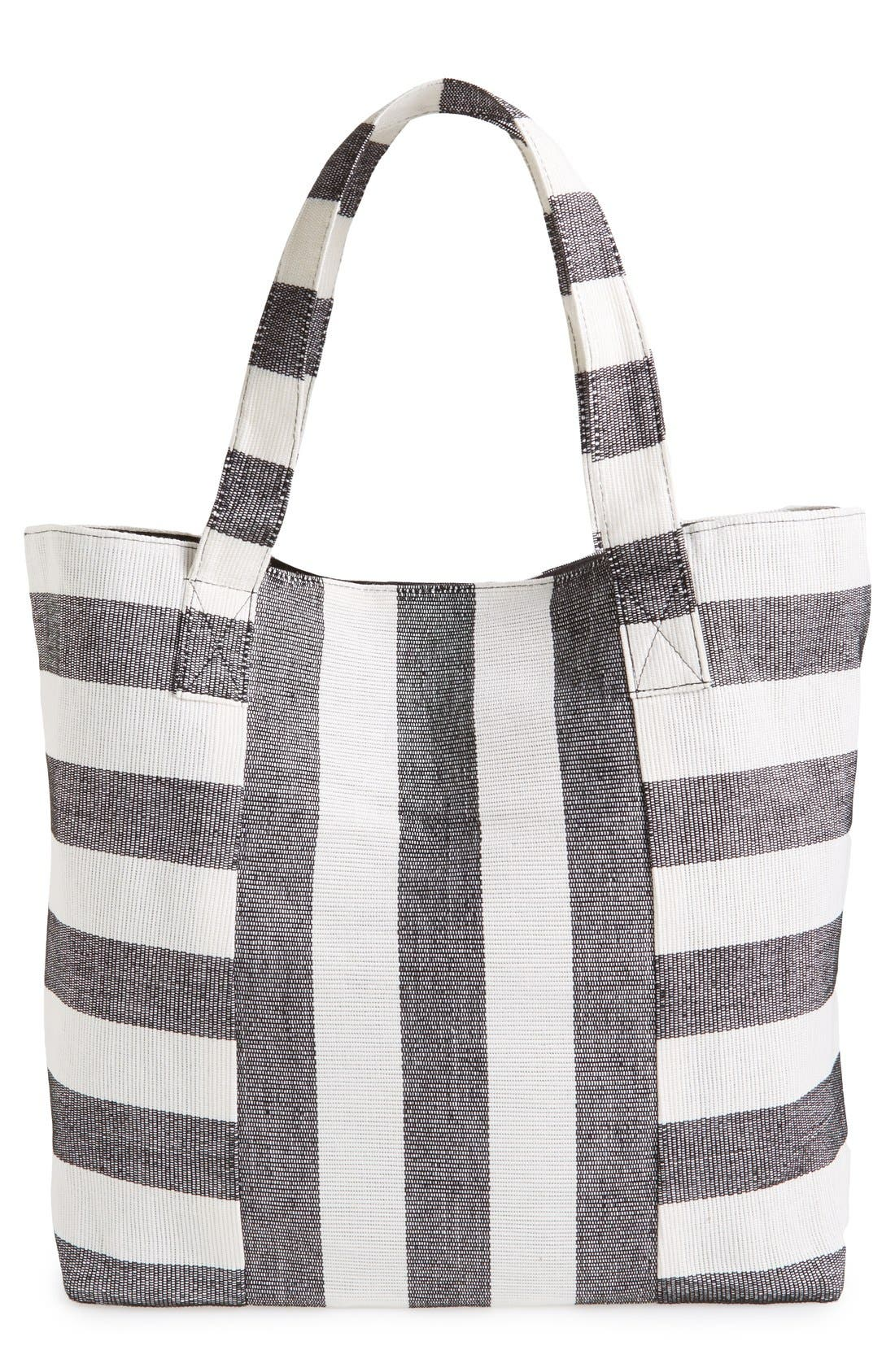 Alternate Image 1 Selected - Cesca Stripe Canvas Tote