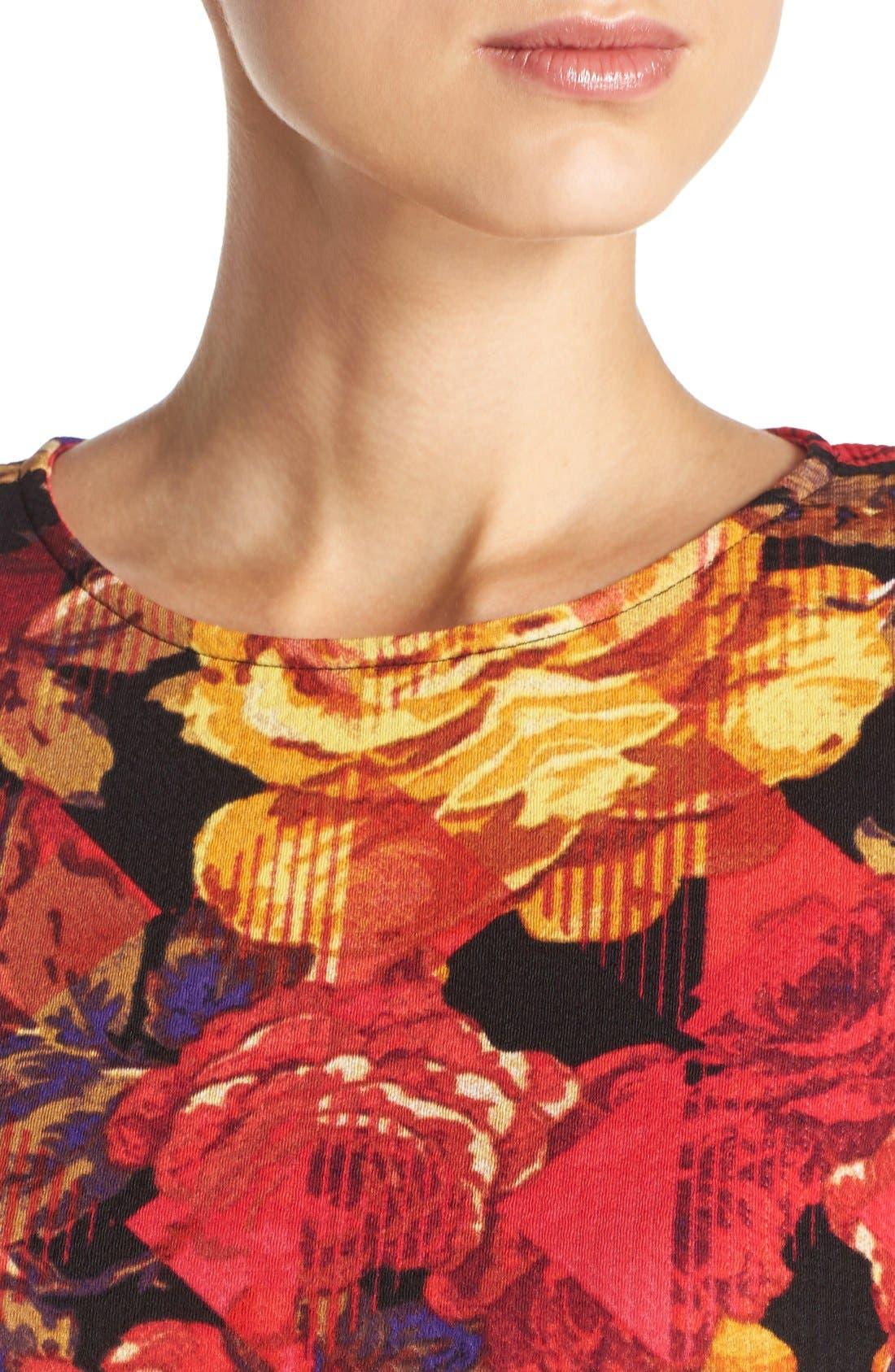 Alternate Image 5  - ECI Floral Print Fit & Flare Dress