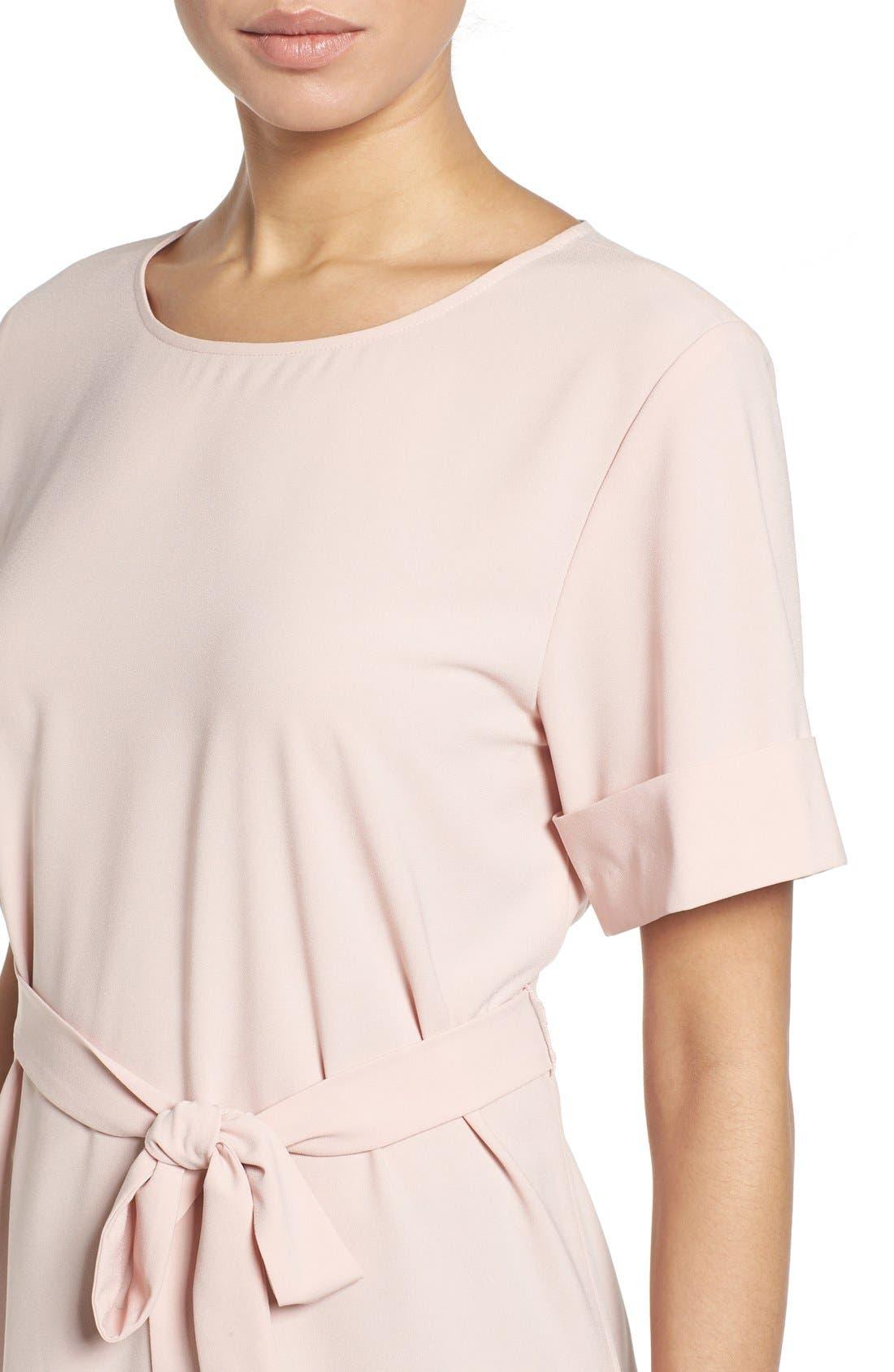 Alternate Image 4  - Halogen® Belted Short Sleeve Top (Regular & Petite)