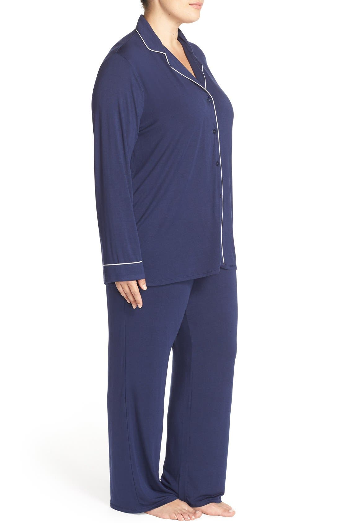 'Moonlight' Pajamas,                             Alternate thumbnail 3, color,                             Navy Peacoat