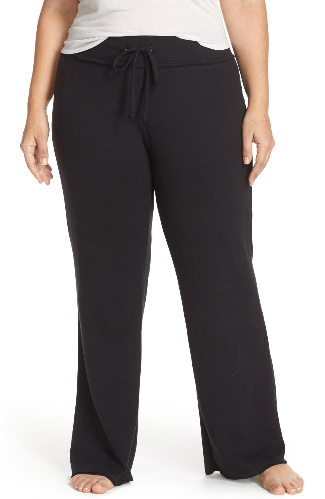 'Lazy Mornings' Lounge Pants,                         Main,                         color, Black