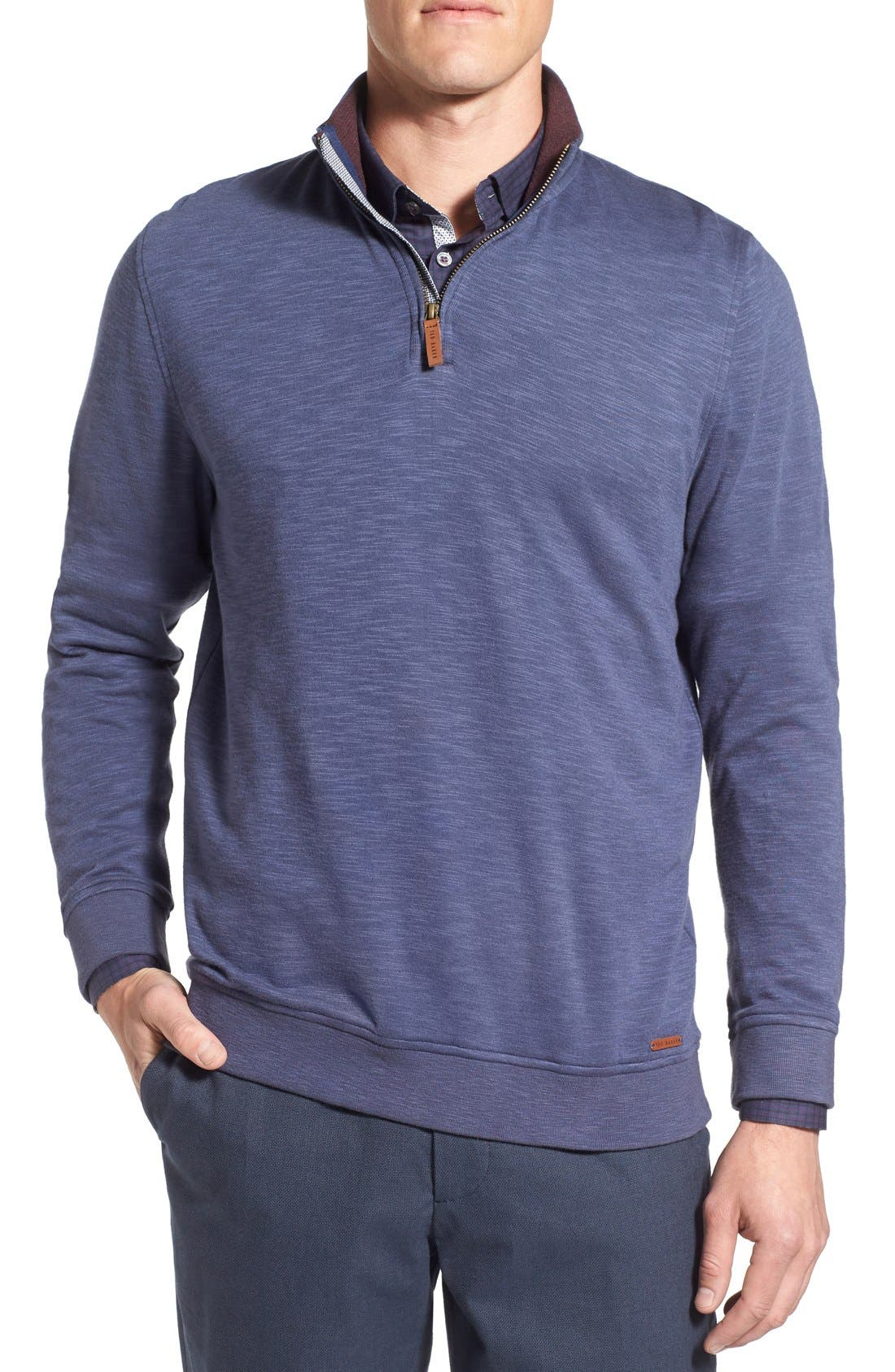 'Mandra' Quarter Zip Pullover,                         Main,                         color, Dark Blue