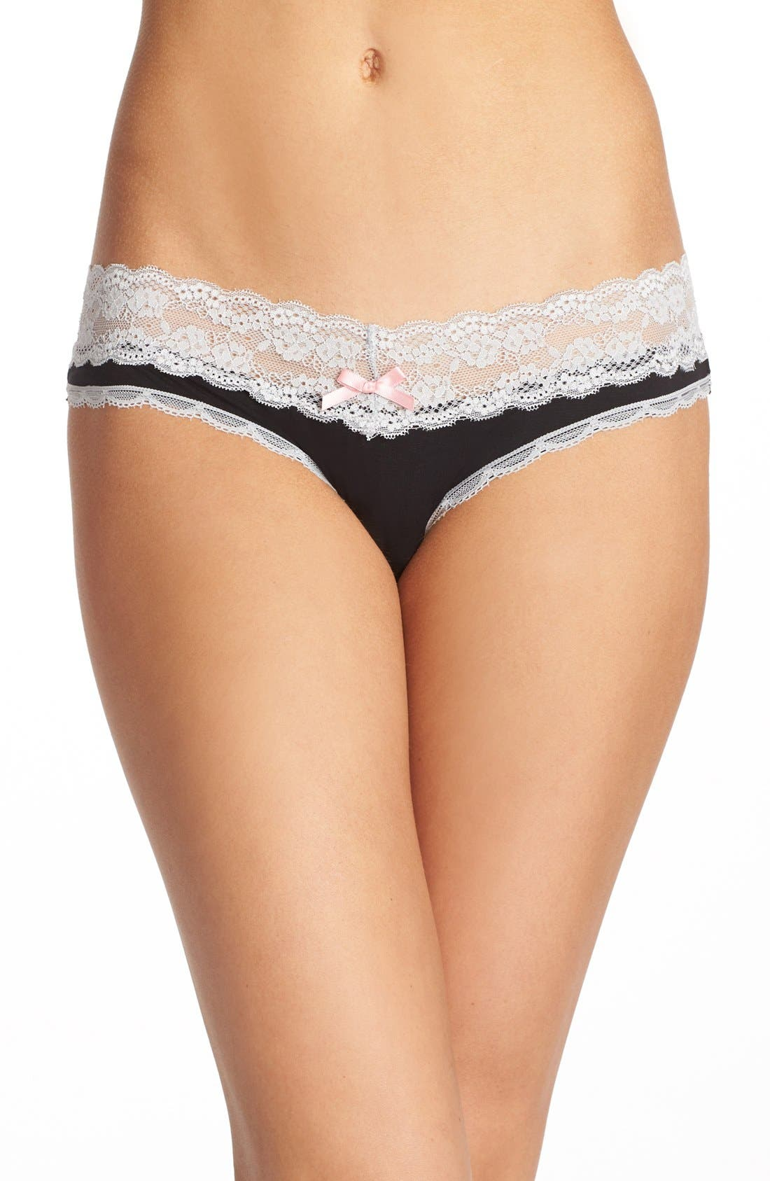 Honeydew Intimates Lace Trim Low Rise Thong (3 for $33)