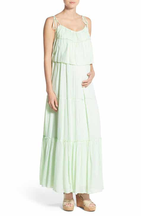 Fillyboo 'Songbird' Popover Maternity/Nursing Maxi Dress by Fillyboo