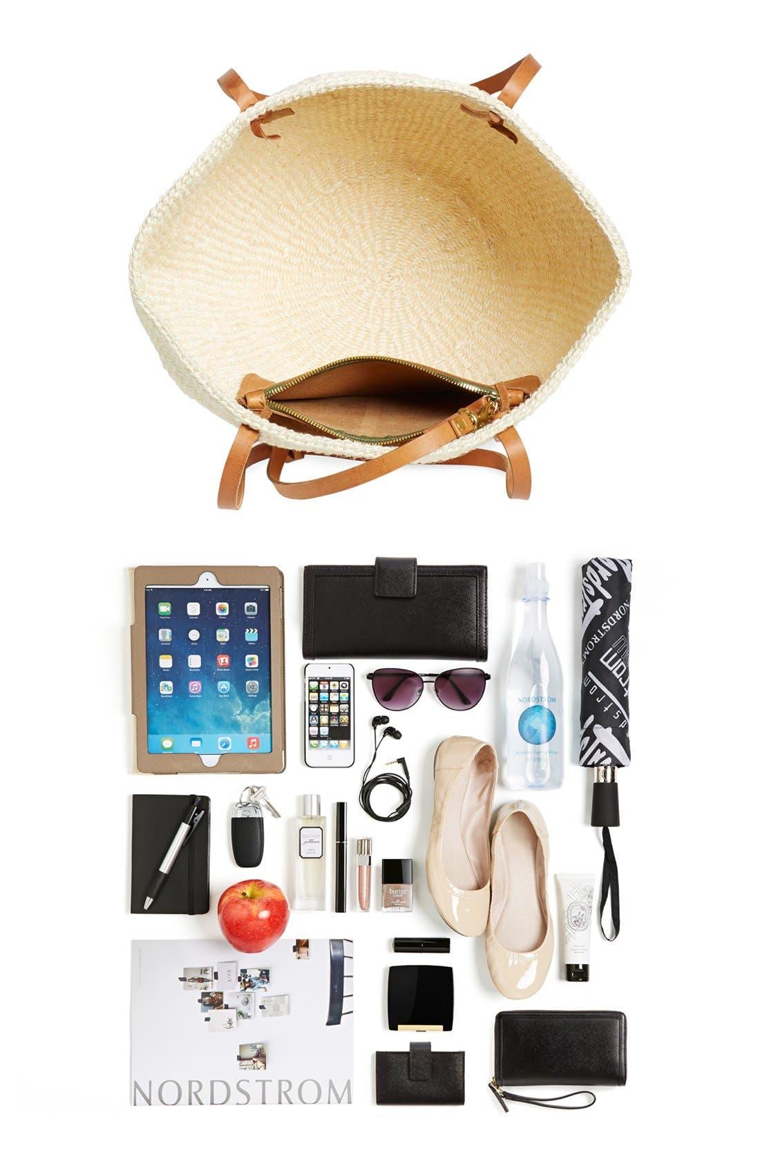 Alternate Image 8  - Clare V. 'Kenya' Sisal Shoulder Bag