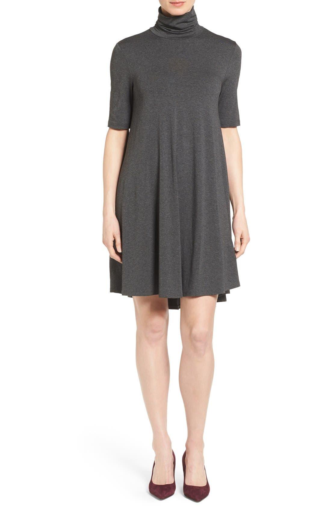 Alternate Image 1 Selected - Karen Kane 'Maggie' Turtleneck Trapeze Dress