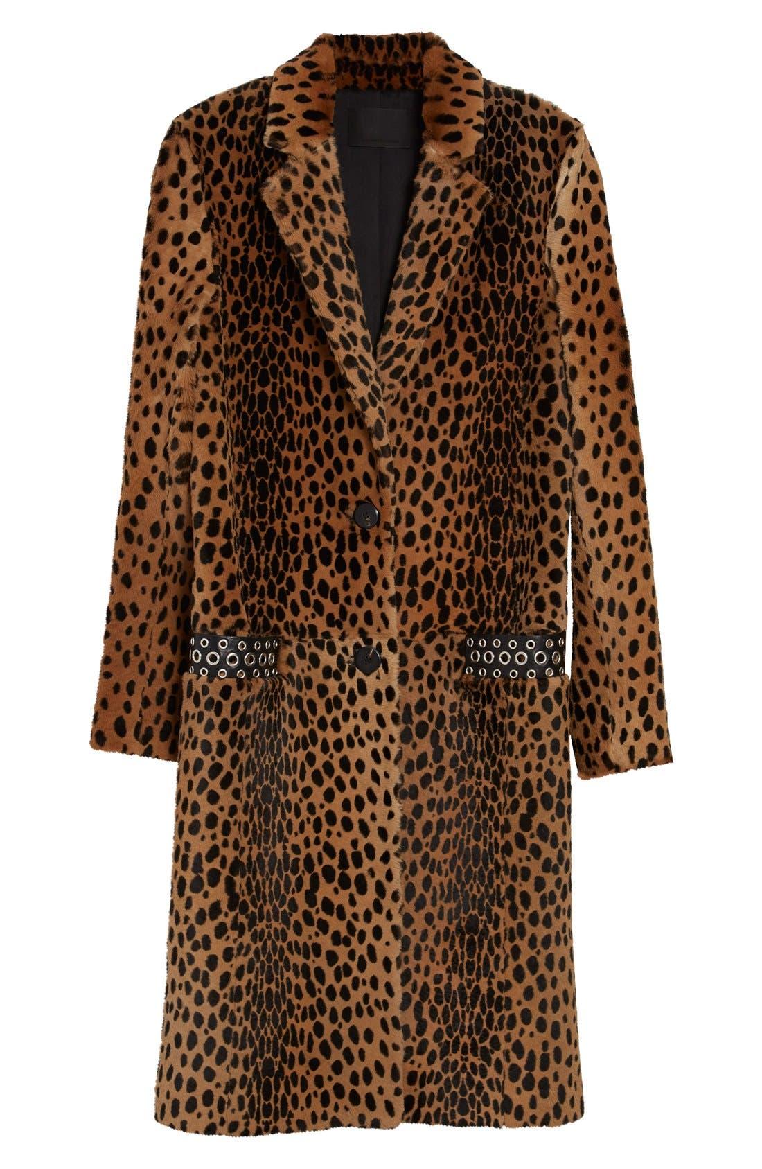 Alternate Image 4  - Alexander Wang Cheetah Print Genuine Kangaroo Fur Coat