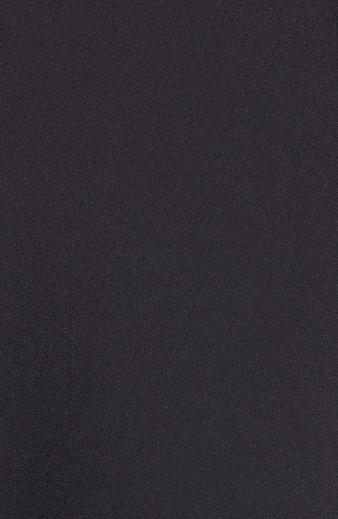 Alternate Image 3  - Saint Laurent Ruffle Trim Crepe Sable Babydoll Dress