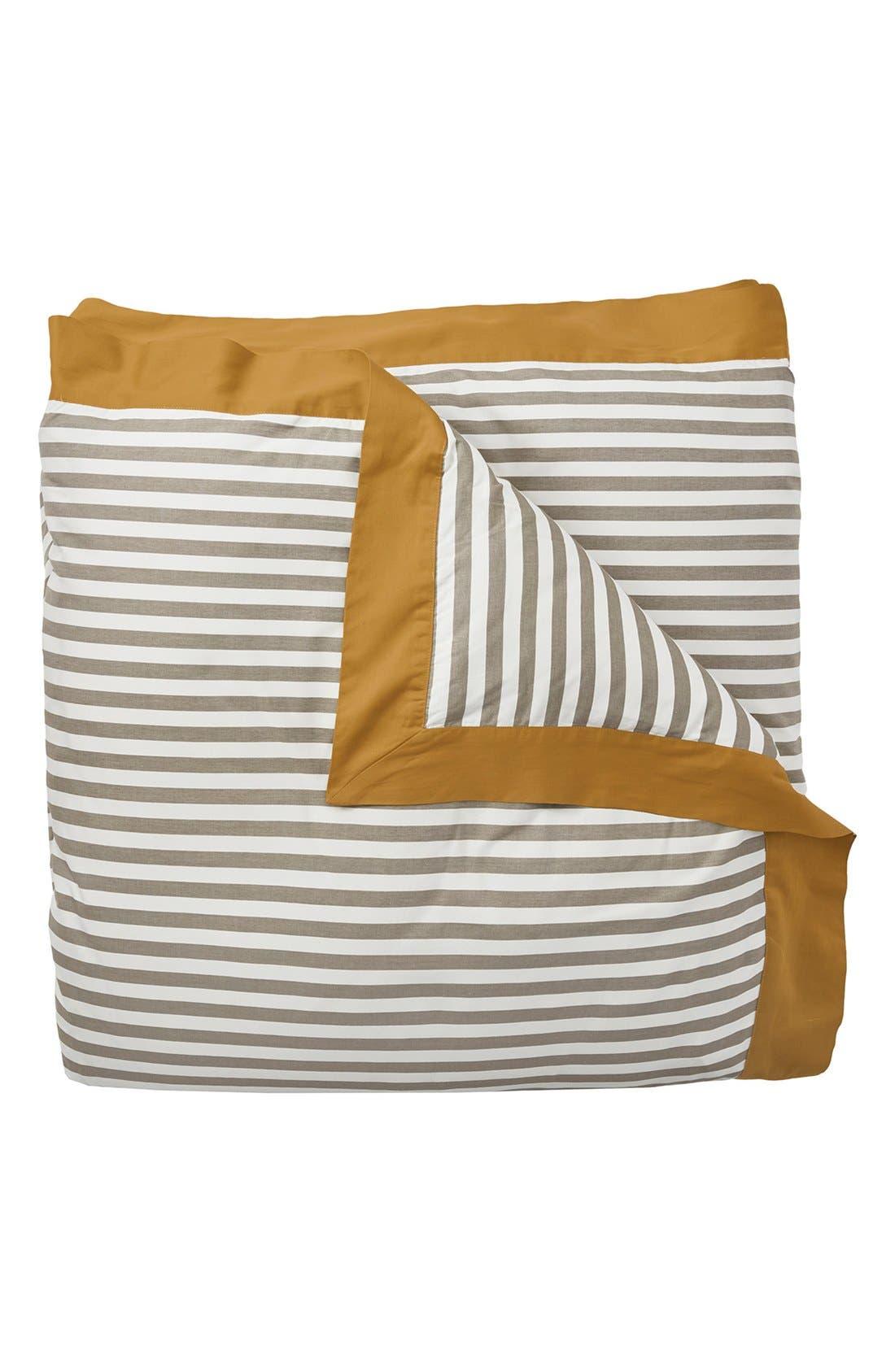 'Draper Stripe' Duvet Cover,                             Alternate thumbnail 2, color,                             Yellow/ Multi
