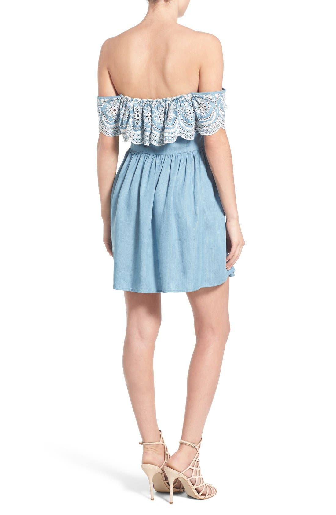 Alternate Image 3  - Lovers + Friends 'Dream Vacay' Off the Shoulder Fit & Flare Dress