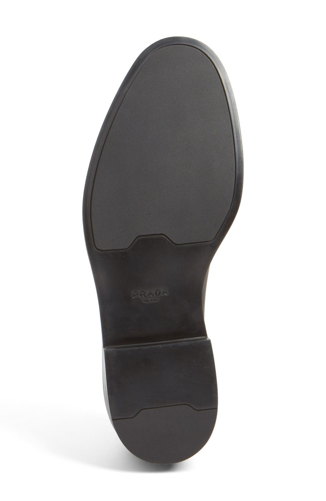 Medallion Toe Derby,                             Alternate thumbnail 4, color,                             Tabacco/ Nero Leather
