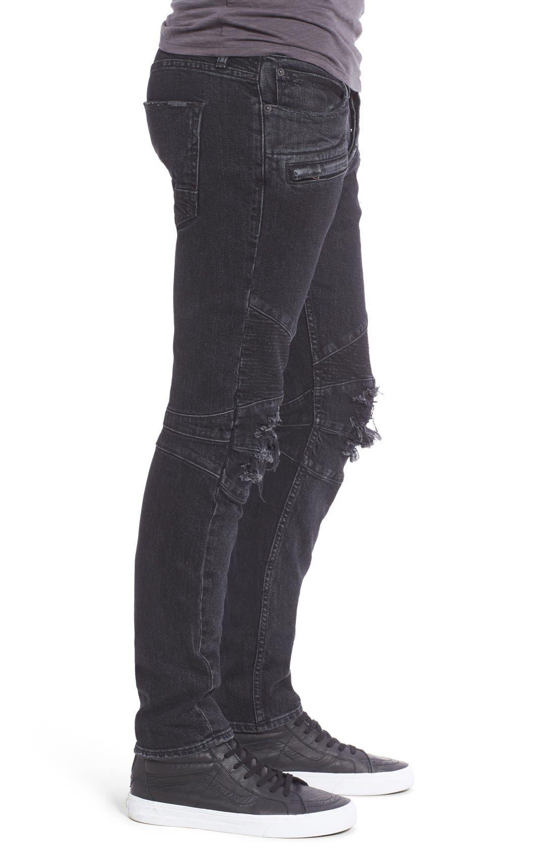 Alternate Image 3  - Hudson Jeans 'Blinder' Skinny Fit Moto Jeans (Hostile)
