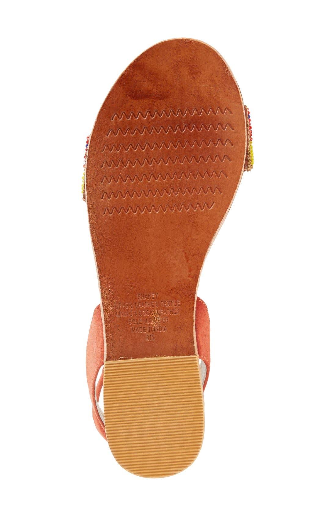 'Shaney' Beaded Wraparound Lace Sandal,                             Alternate thumbnail 4, color,                             Bright Multi
