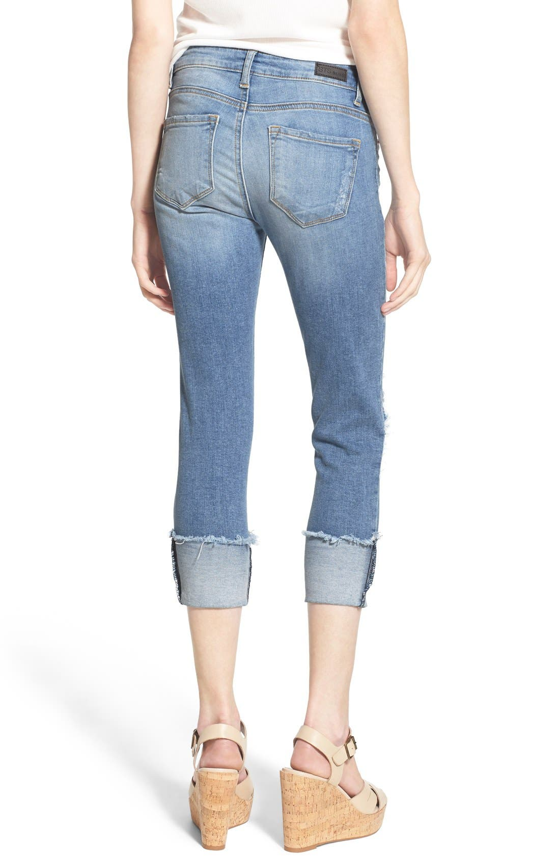 Alternate Image 3  - STS Blue Destroyed Crop Skinny Jeans (Topanga)
