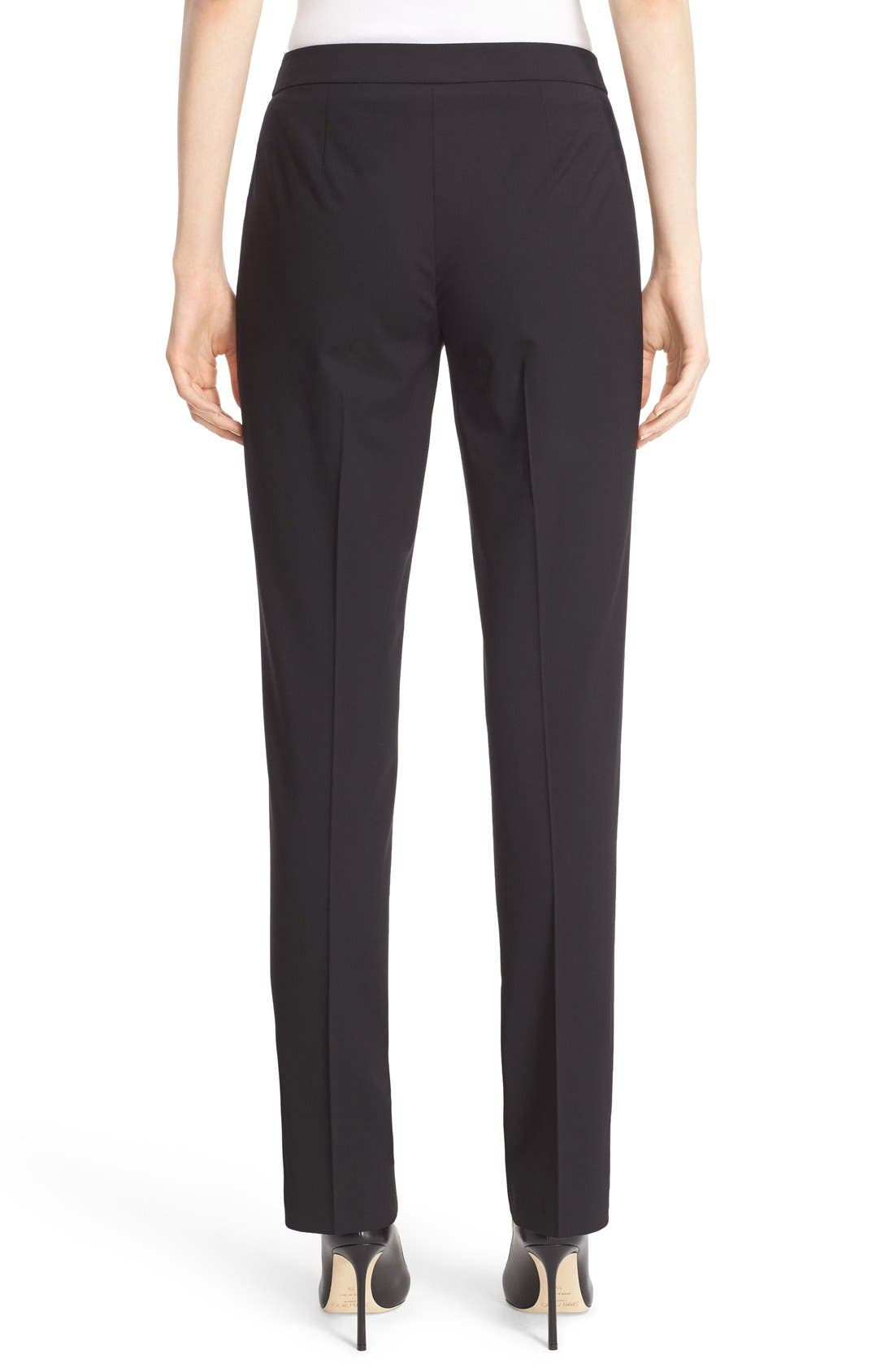 Alternate Image 2  - Lafayette 148 New York 'Barrow' Stretch Wool Pants
