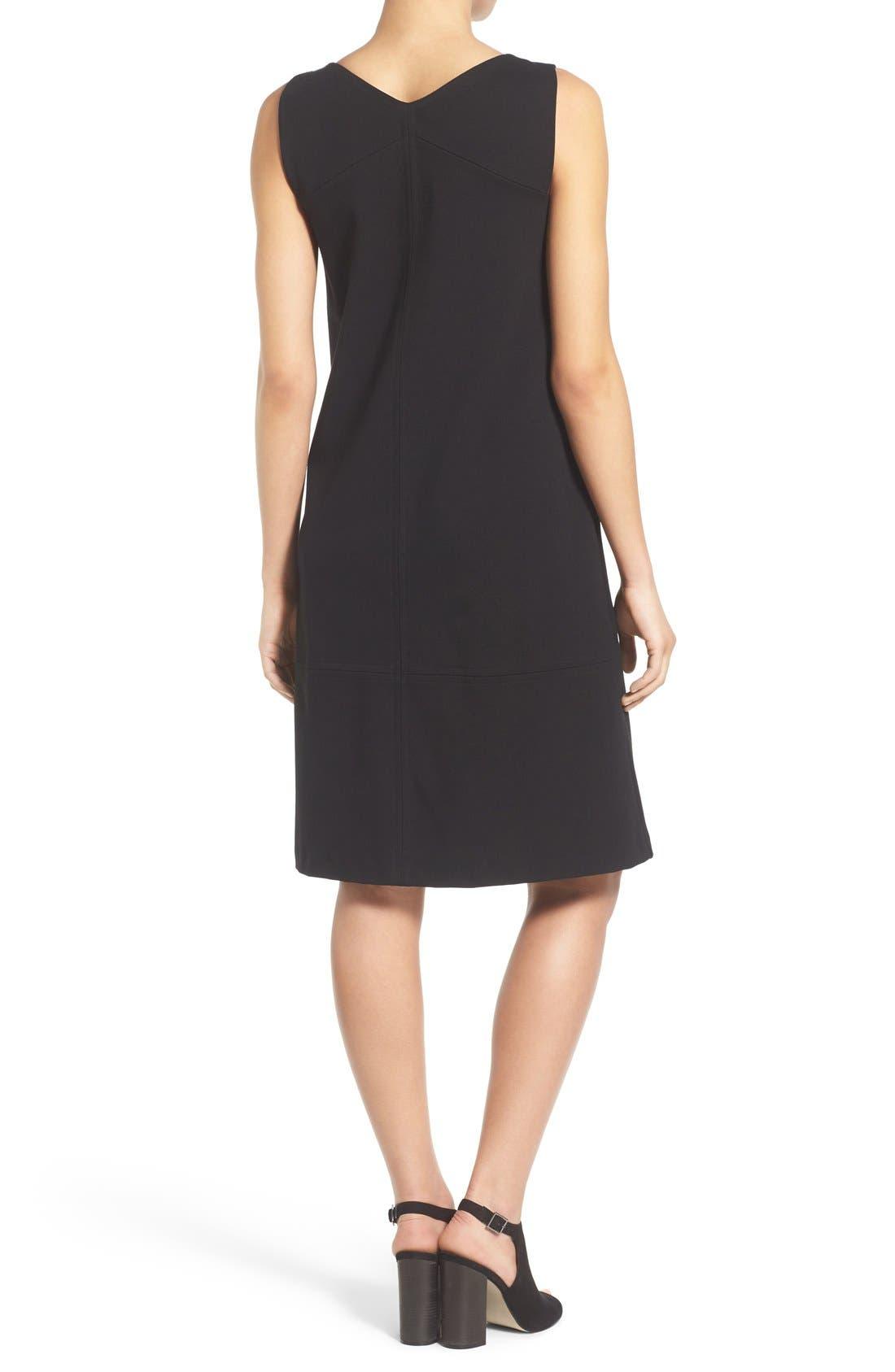 Alternate Image 2  - Eileen Fisher Bateau Neck Drop Waist Shift Dress (Regular & Petite)