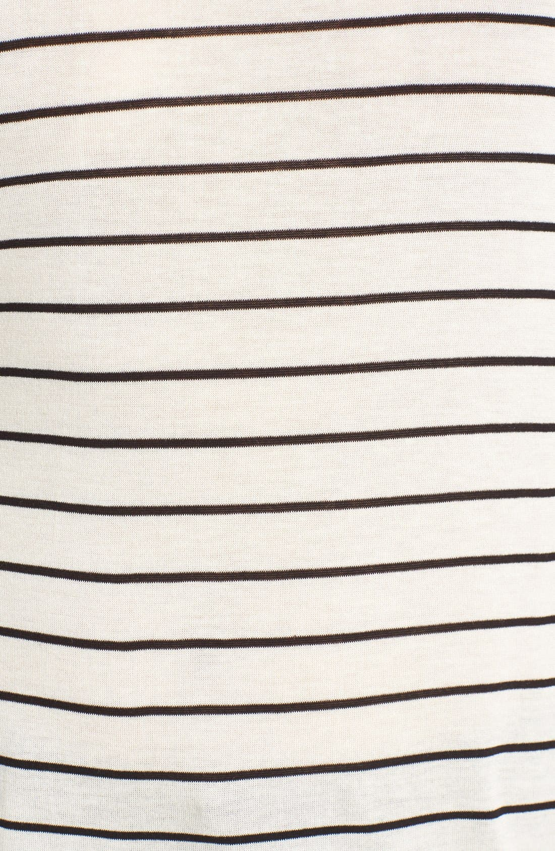 Stripe Long Sleeve Crewneck Tee,                             Alternate thumbnail 5, color,                             Ivory Jenna Stripe
