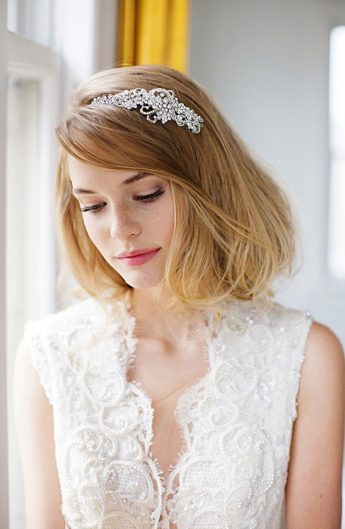 Alternate Image 2  - Brides & Hairpins 'Aphrodite' Jeweled Head Band