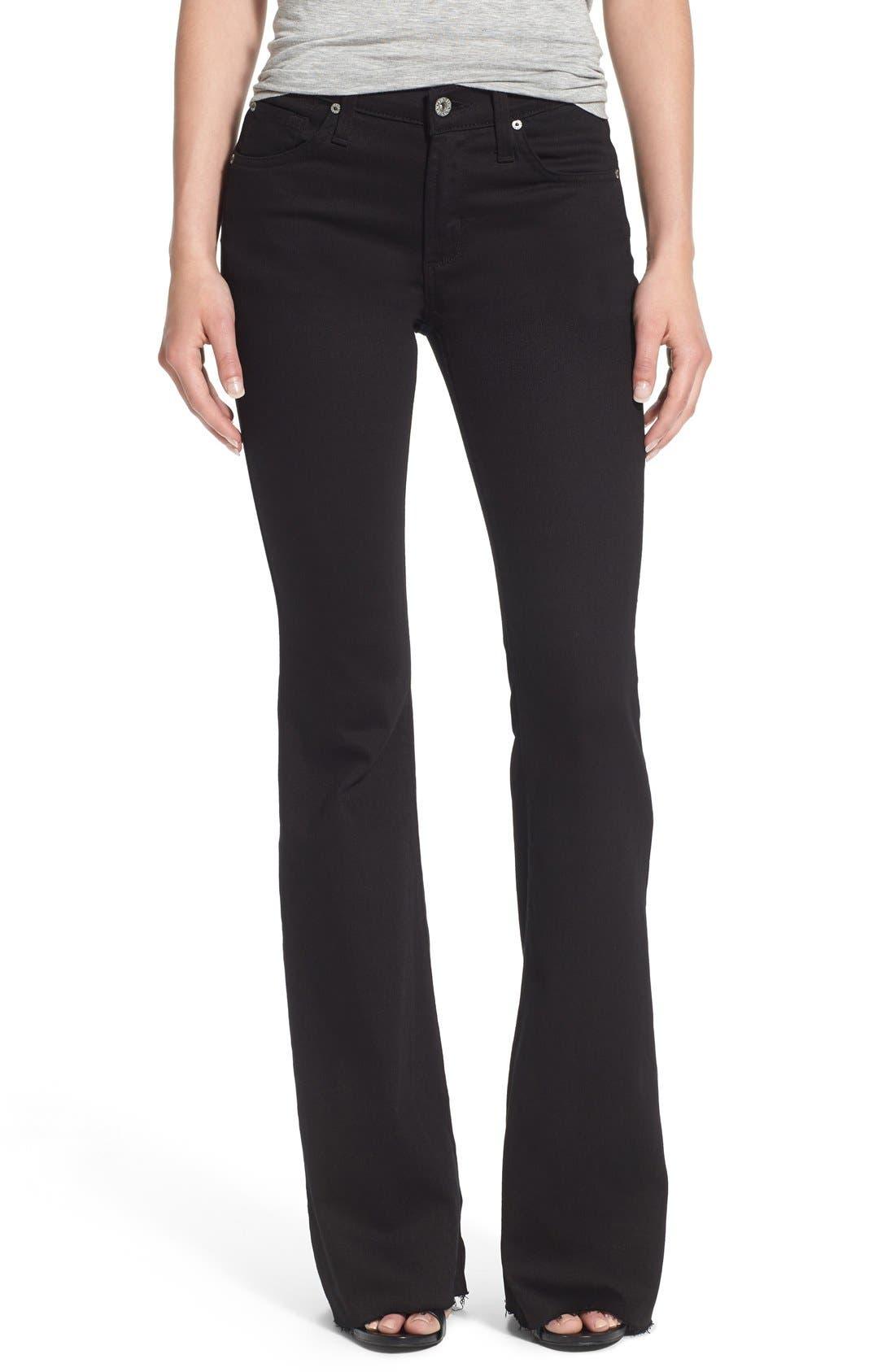 Alternate Image 1 Selected - James Jeans Frayed Hem Flare Jeans